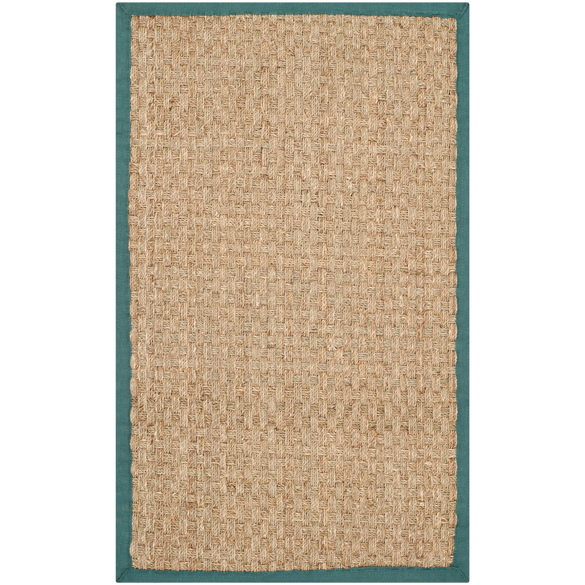 Richmond Natural/Light Blue Area Rug Rug Size: Rectangle 2'6