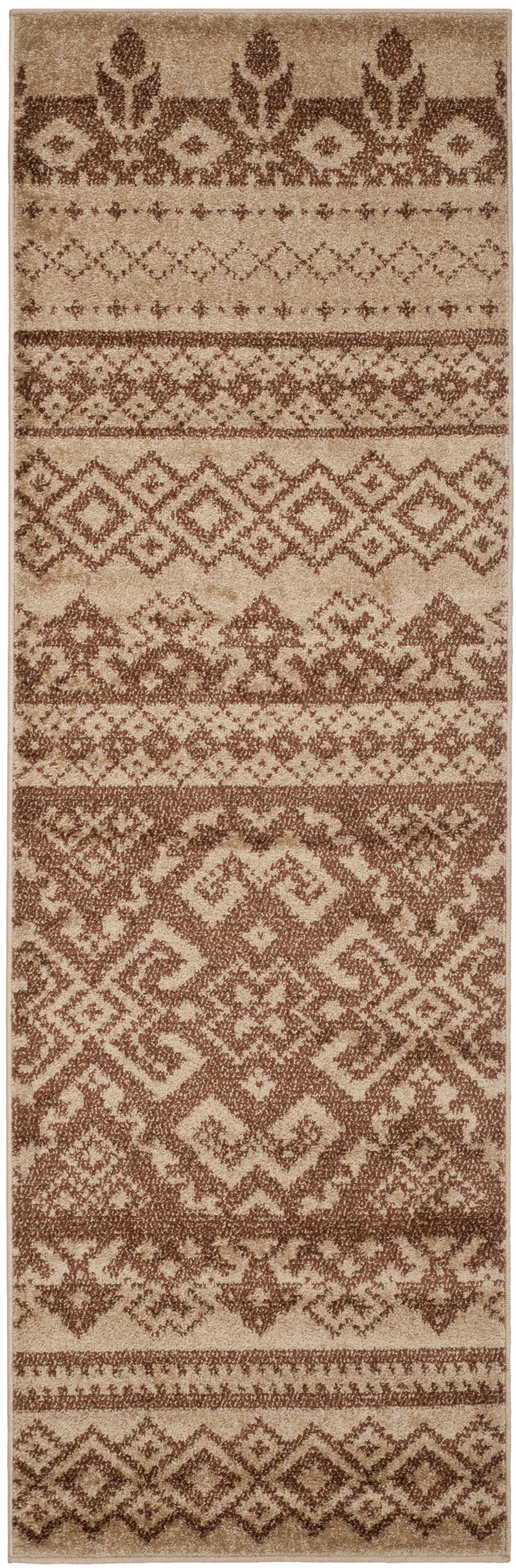 St. Ann Highlands Camel/Chocolate Area Rug Rug Size: Runner 2'6