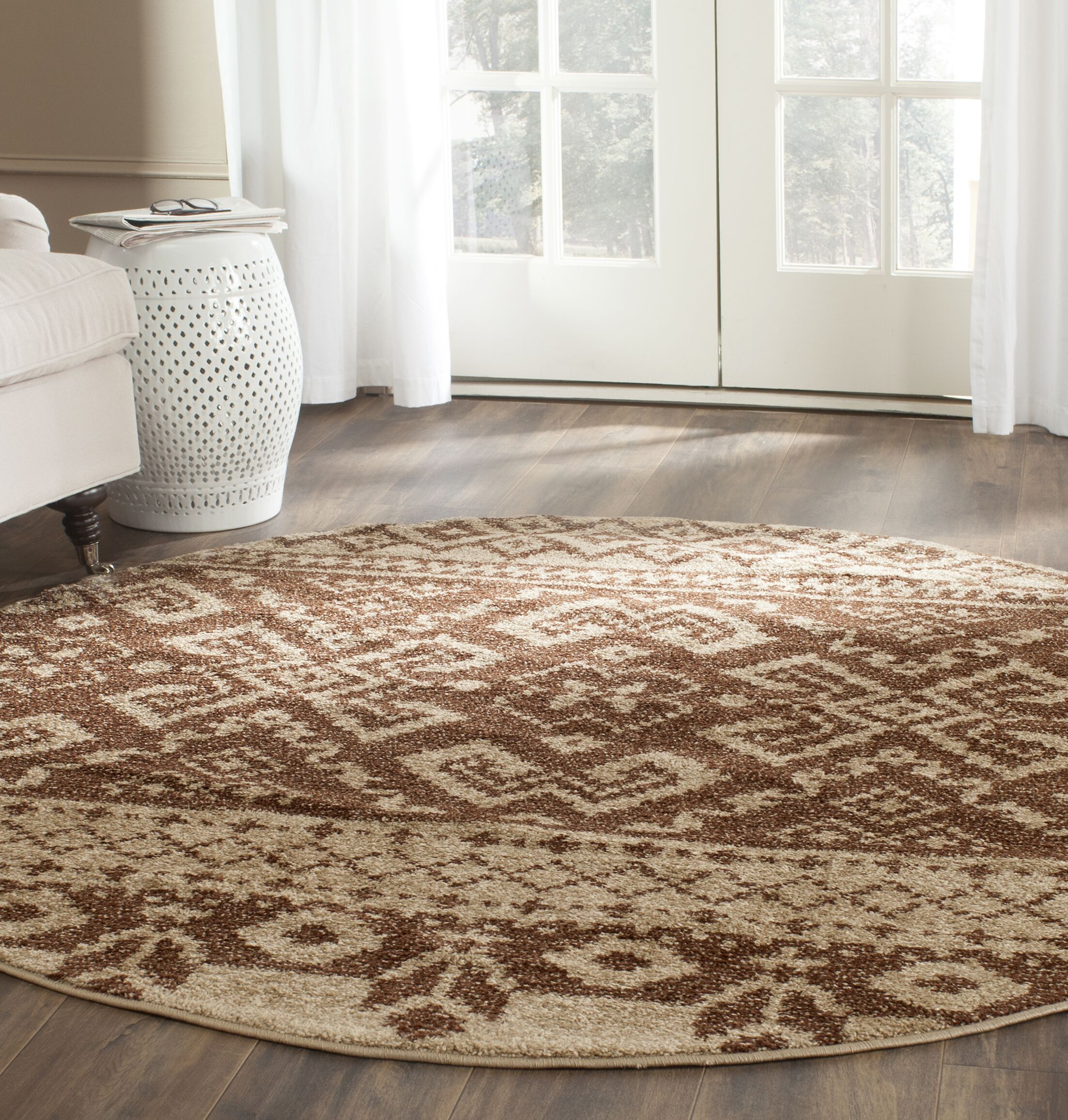 St. Ann Highlands Camel/Chocolate Area Rug Rug Size: Rectangle 10' x 14'