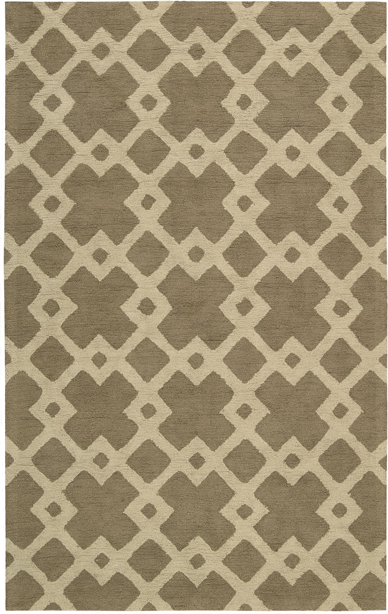 Hateya Hand-Woven Taupe Area Rug Rug Size: Rectangle 5' x 8'
