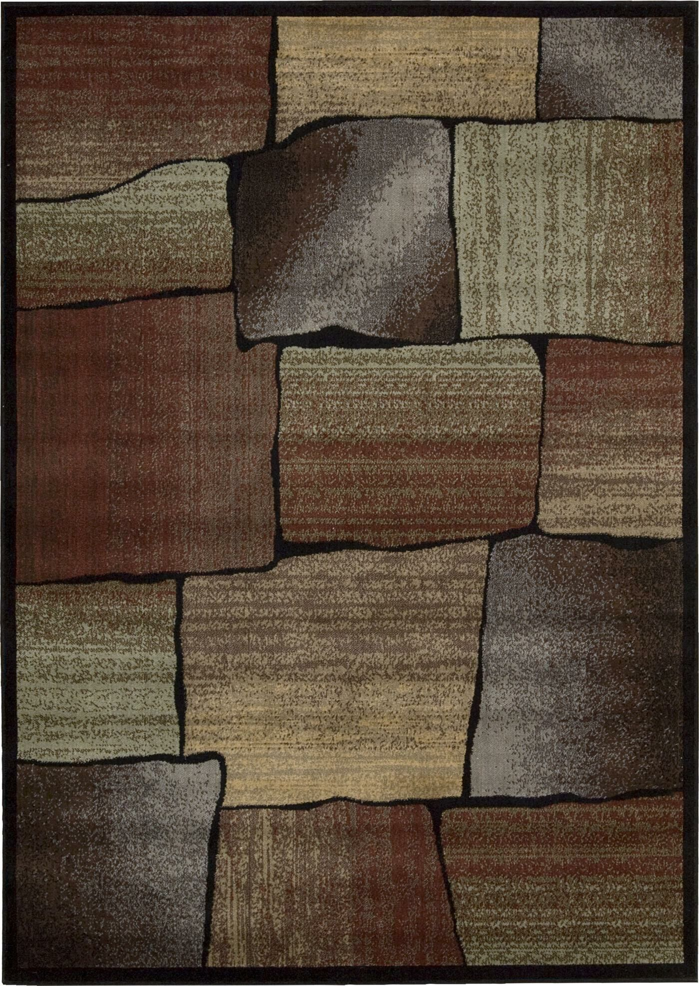 Tall Timber Rust/Beige Area Rug Rug Size: Rectangle 7'9