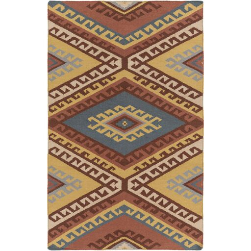 Evelyn Hand-Woven Red/Beige Area Rug Rug Size: Rectangle 4' x 6'