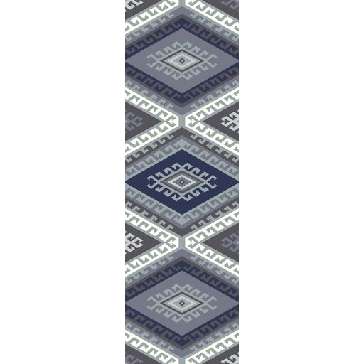 Evelyn Hand-Woven Navy Area Rug Rug Size: Runner 2'6