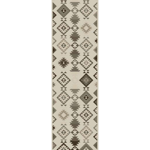 Sassafras Hand-Woven Beige/Gray Area Rug Rug Size: Runner 2'6