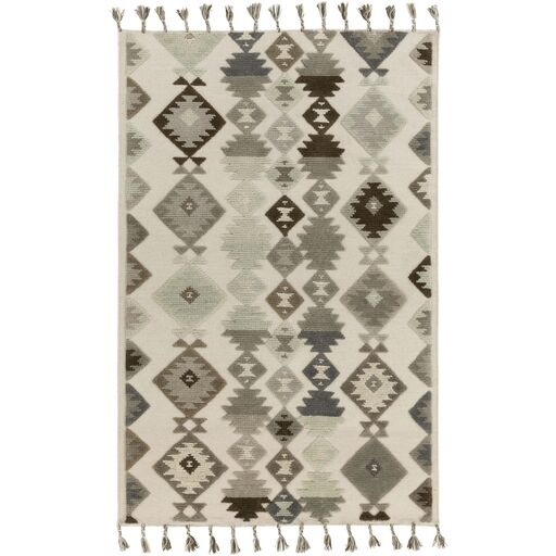 Sassafras Hand-Woven Beige/Gray Area Rug Rug Size: Rectangle 5' x 7'6