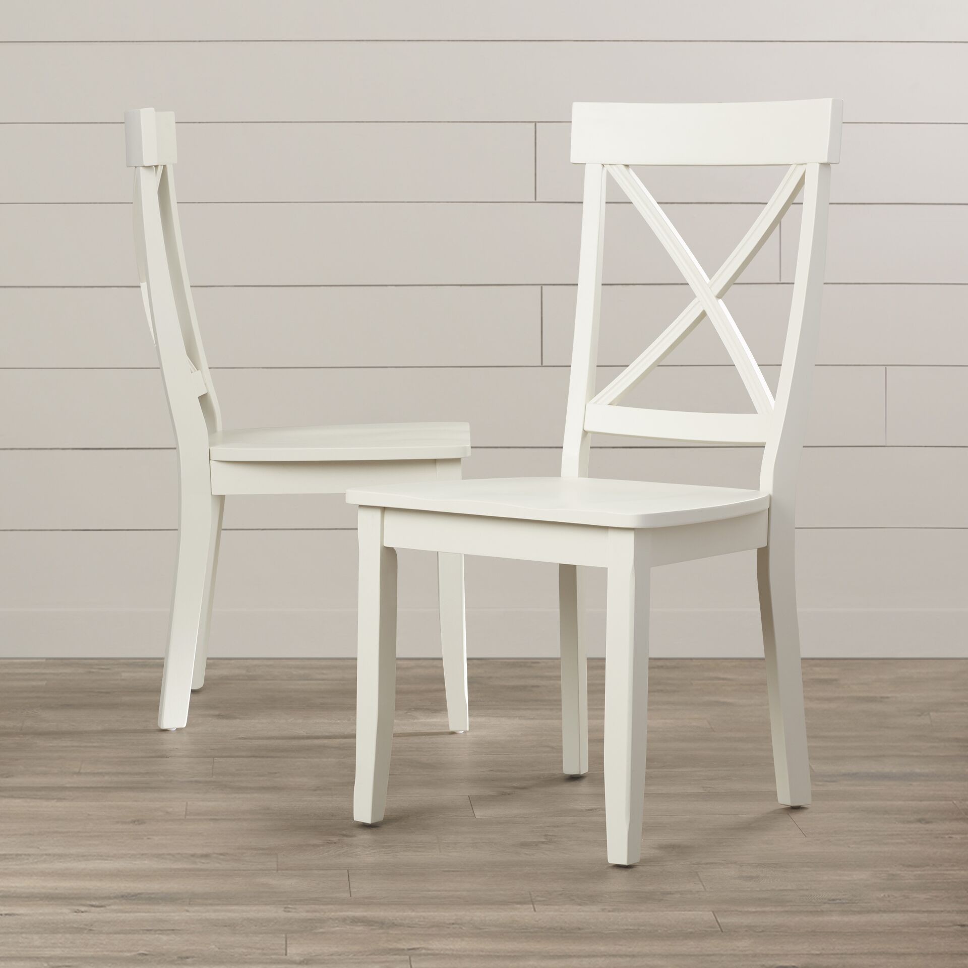 Parkerton Solid Wood Dining Chair Finish: Antique White