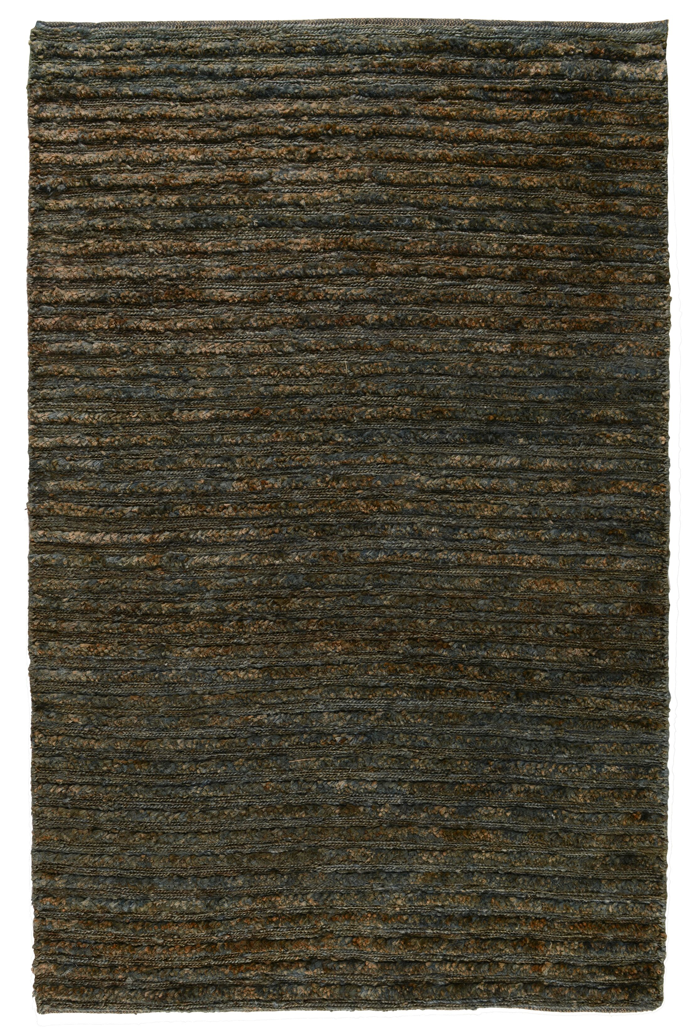 Marion Hand-Woven Ombry Blue/Brown Area Rug Rug Size: 9' x 12'