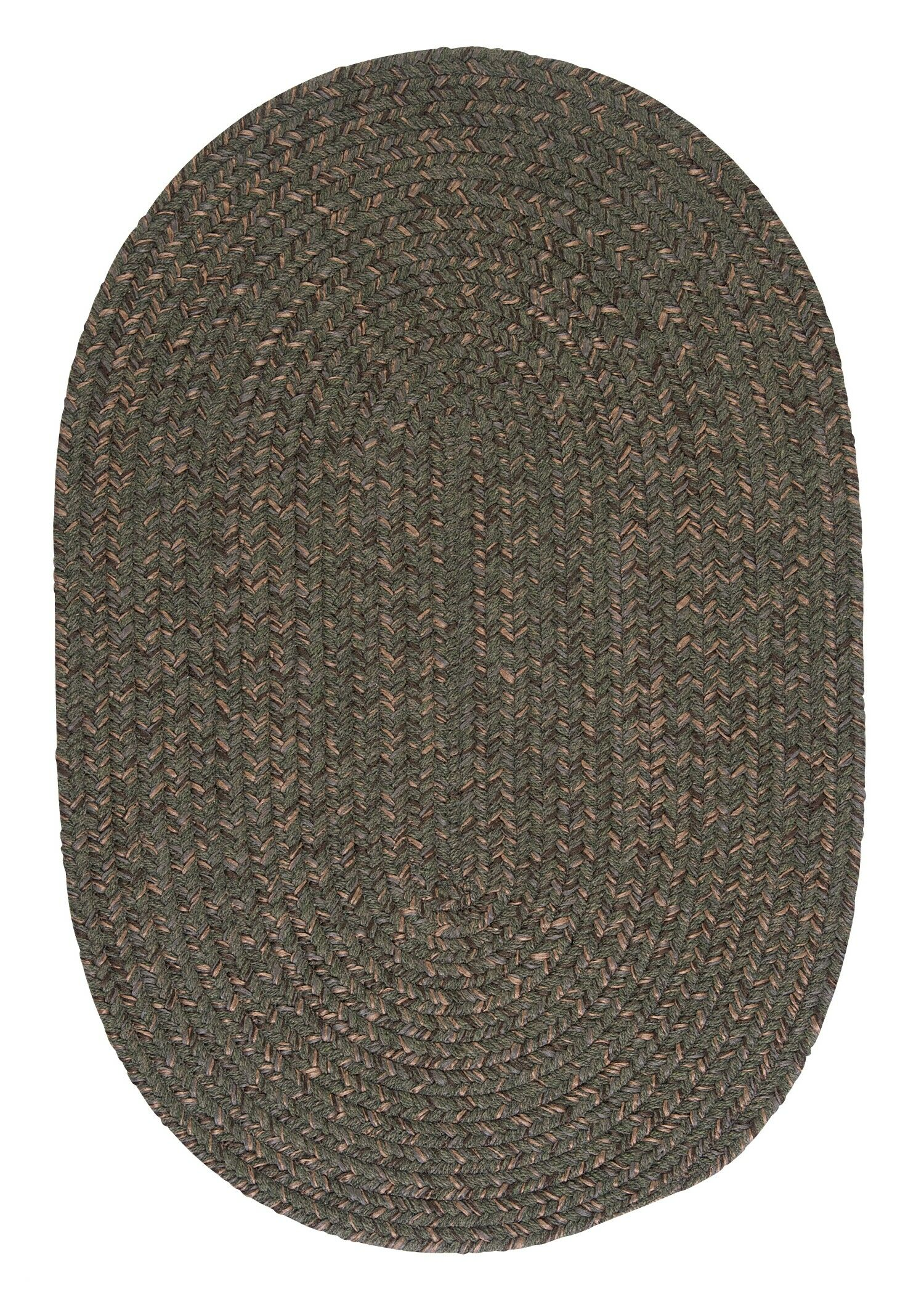 Abey Oliver Green Area Rug Rug Size: Oval Runner 2' x 8'