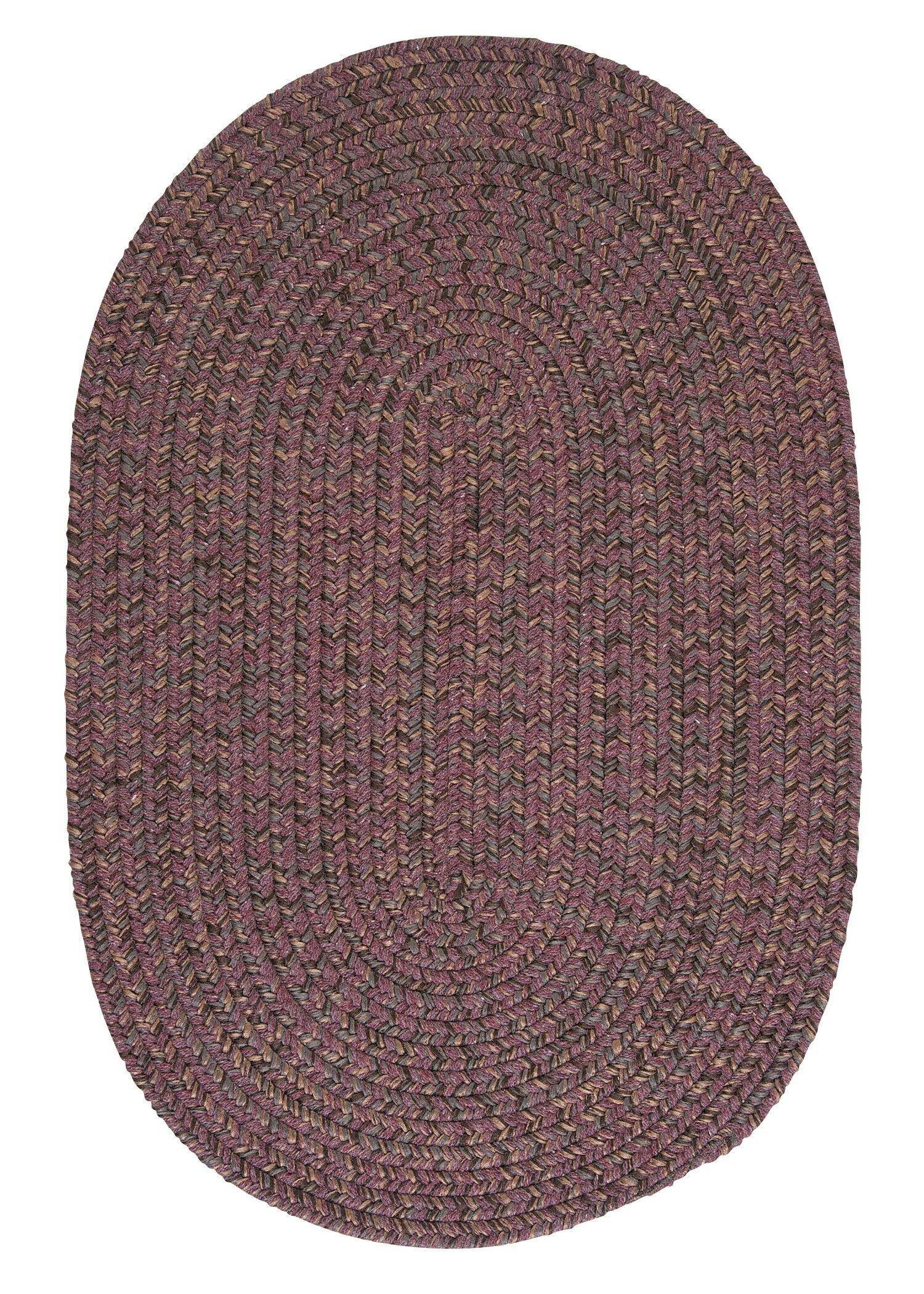 Abey Plum Purple Area Rug Rug Size: Round 6'