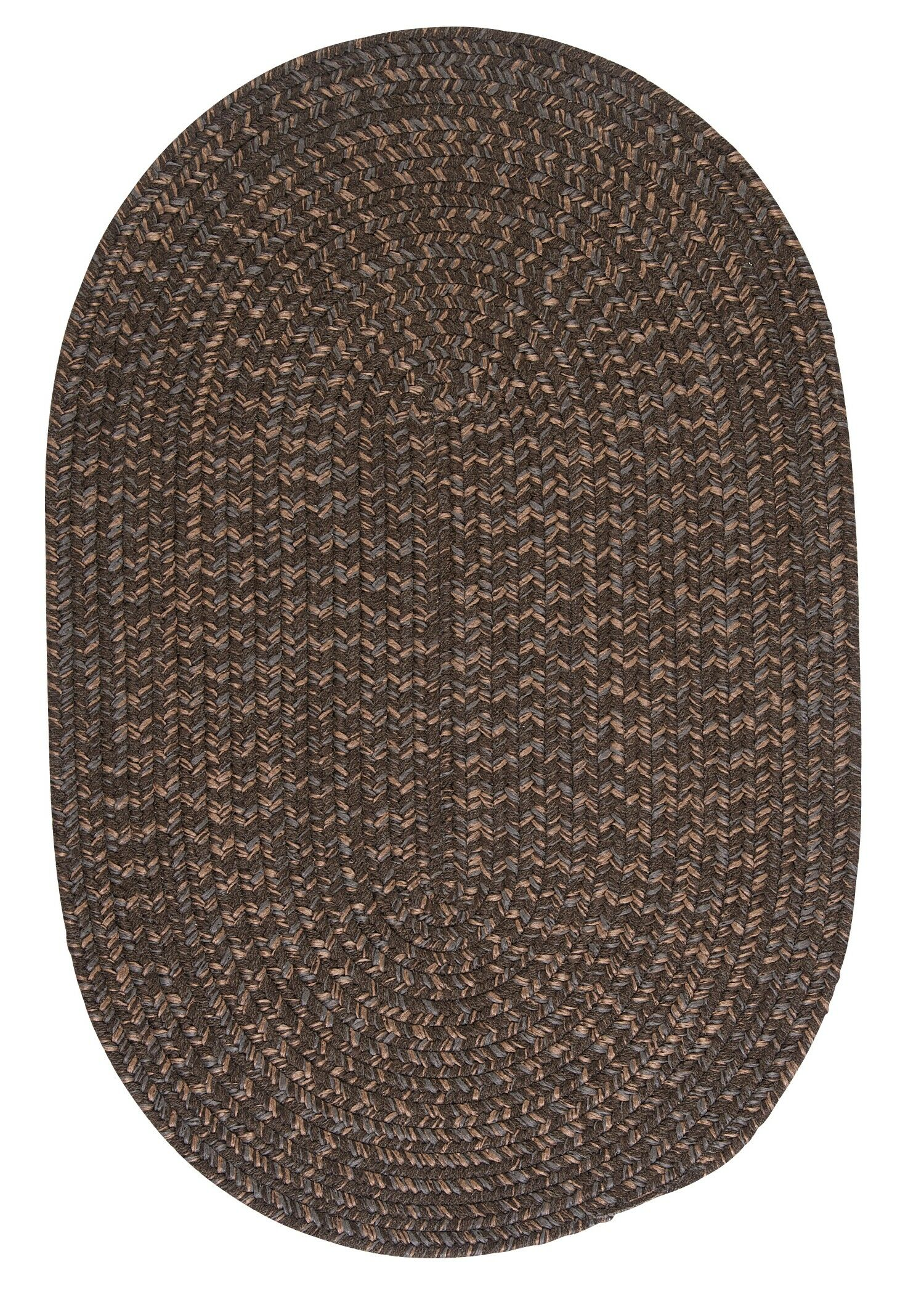 Abey Bark Brown/Tan Area Rug Rug Size: Oval 7' x 9'
