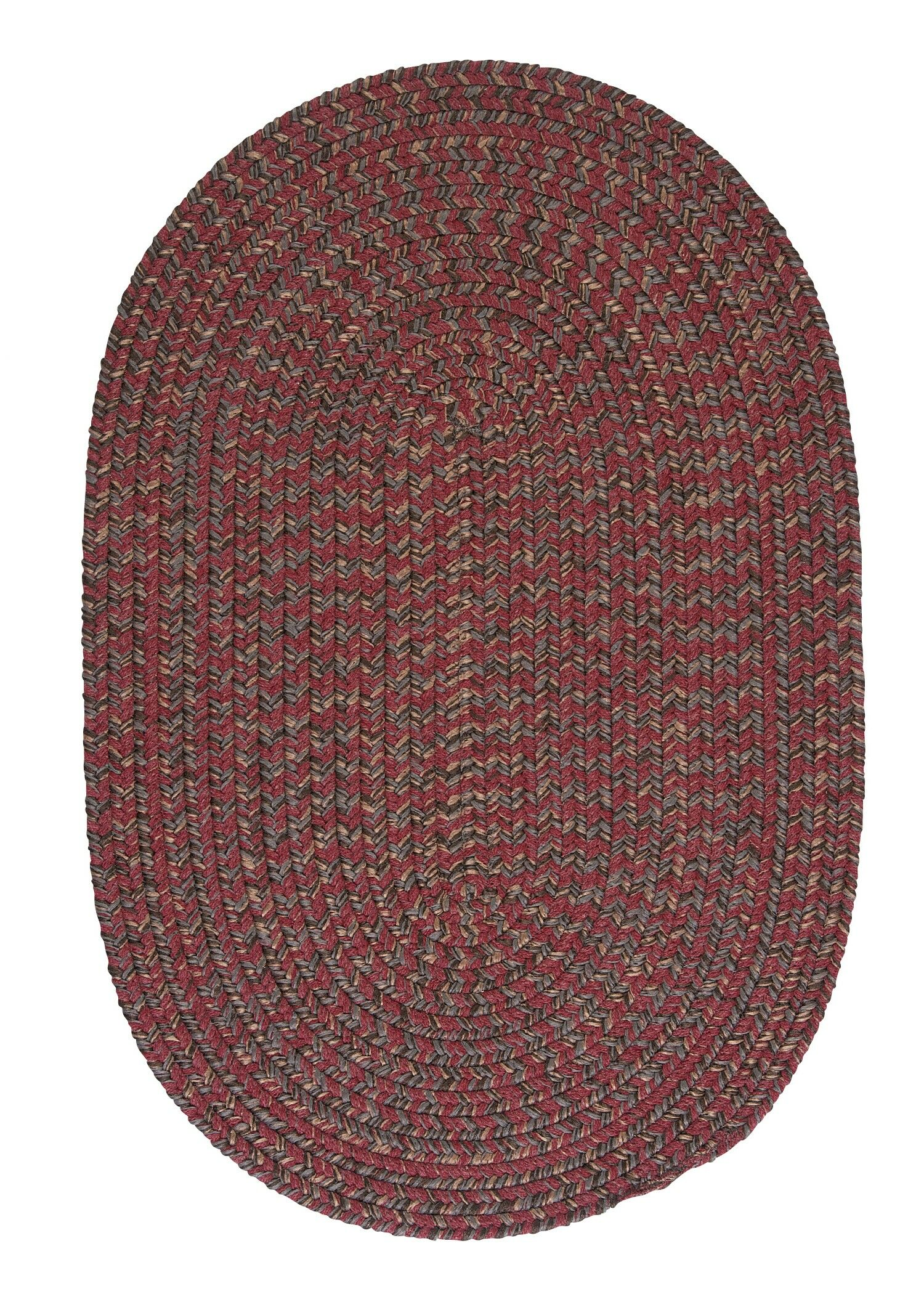 Abey Berry Red Area Rug Rug Size: Oval 12' x 15'