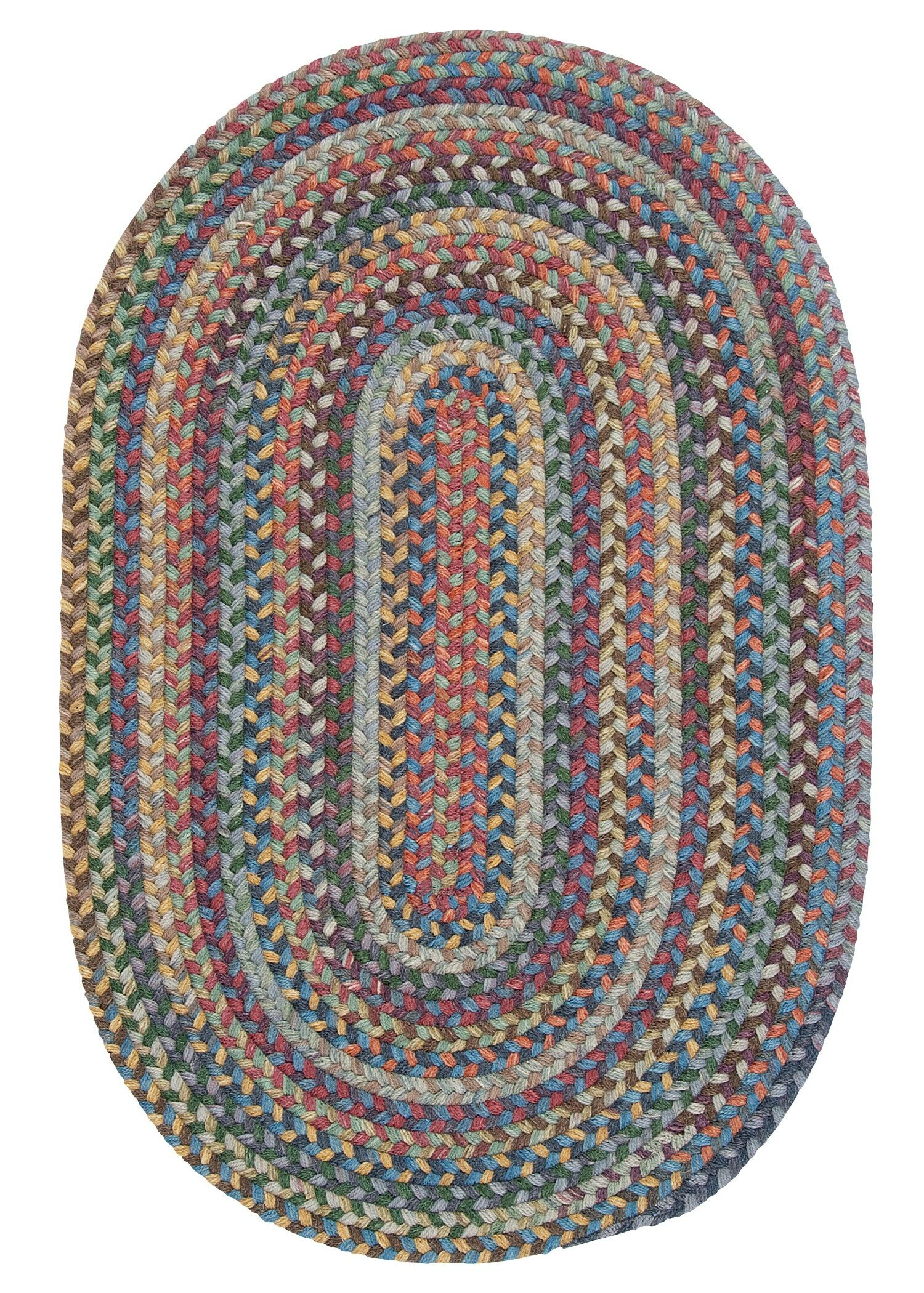 Morris Hand-Woven Wool Red/Brown Area Rug Rug Size: Oval 8' x 11'