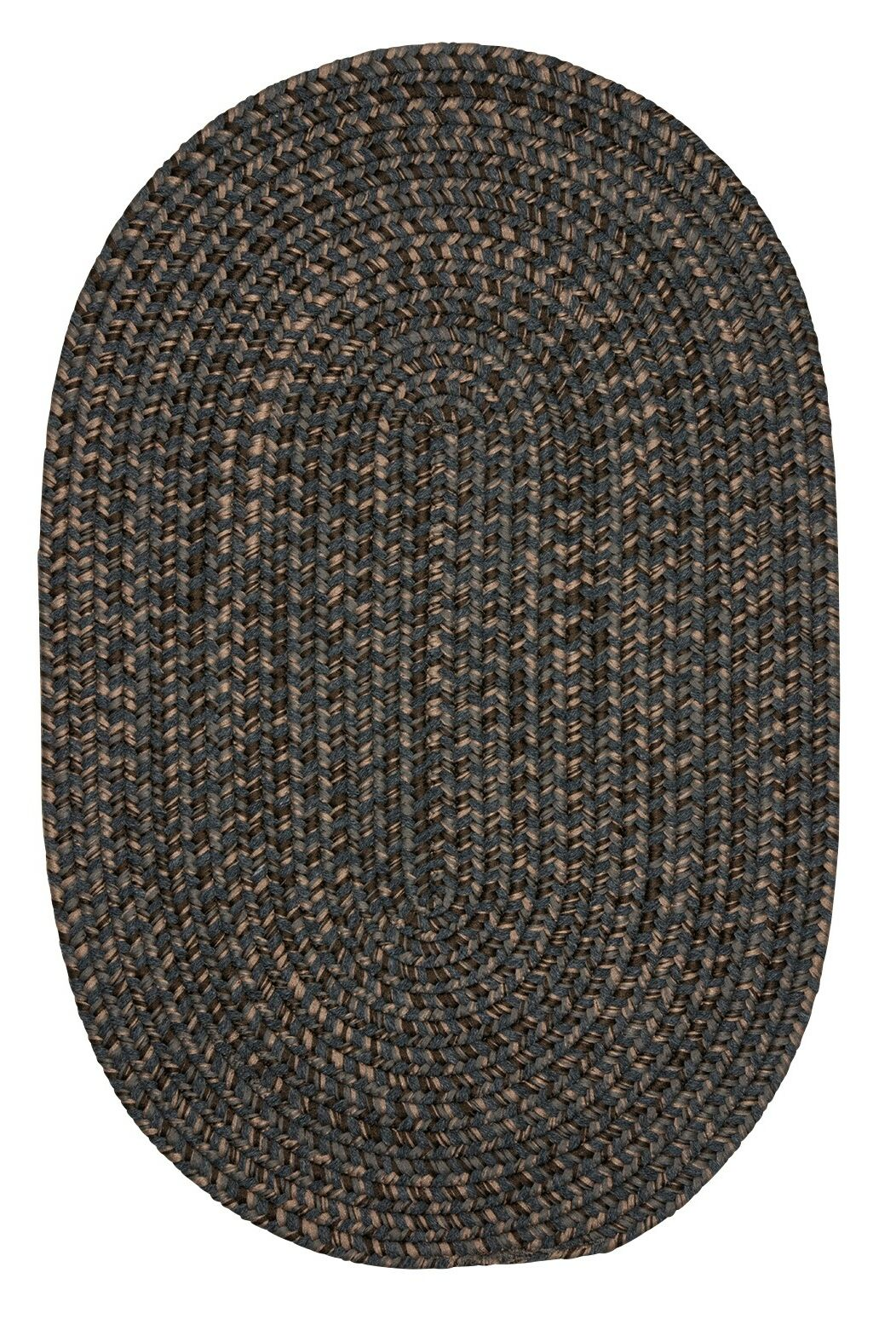 Abey Charcoal Area Rug Rug Size: Oval 4' x 6'