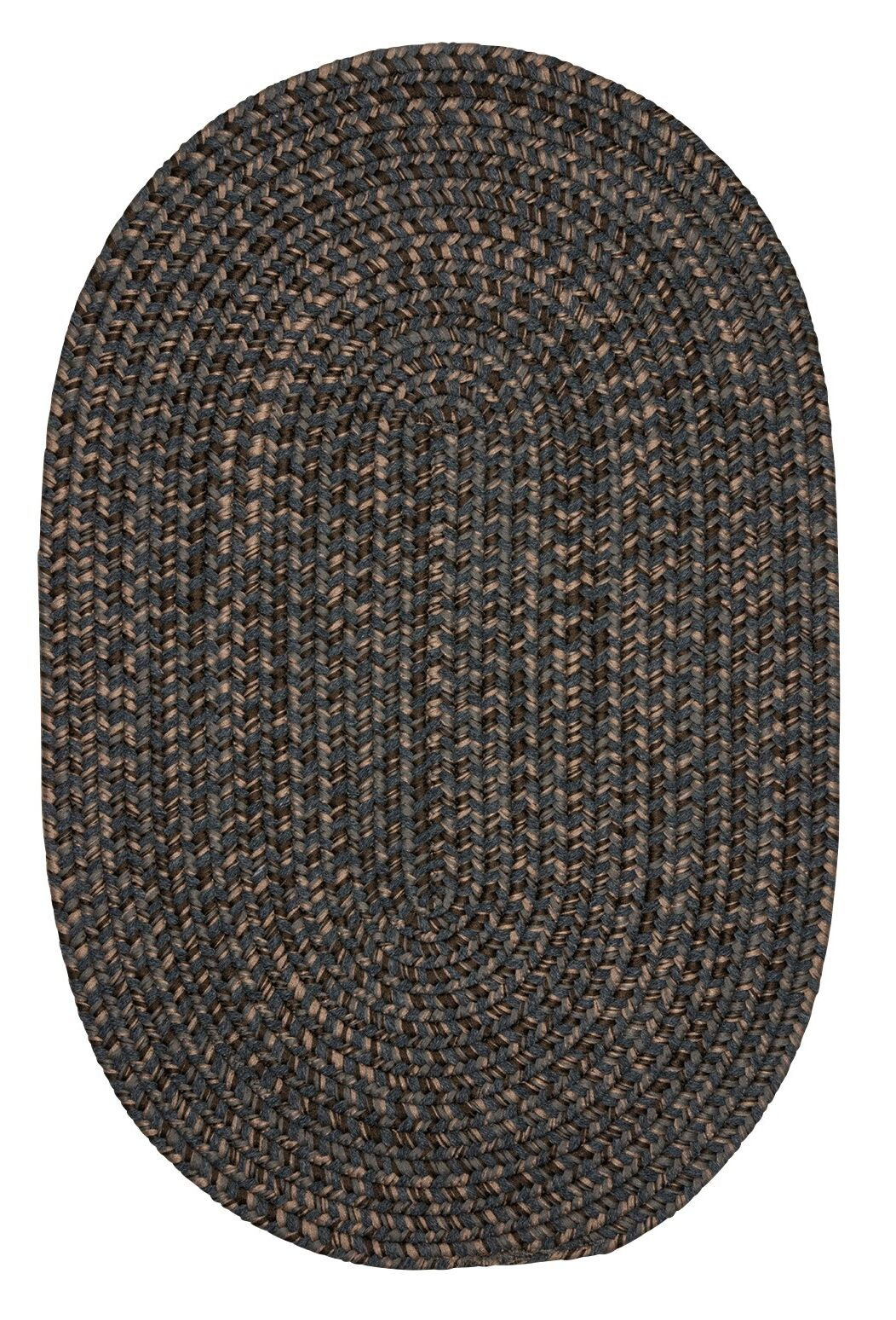 Abey Charcoal Area Rug Rug Size: Oval 7' x 9'