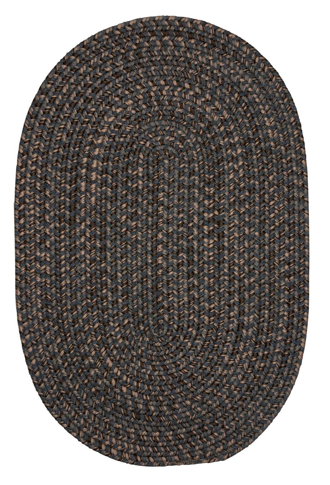 Abey Charcoal Area Rug Rug Size: Oval 2' x 4'