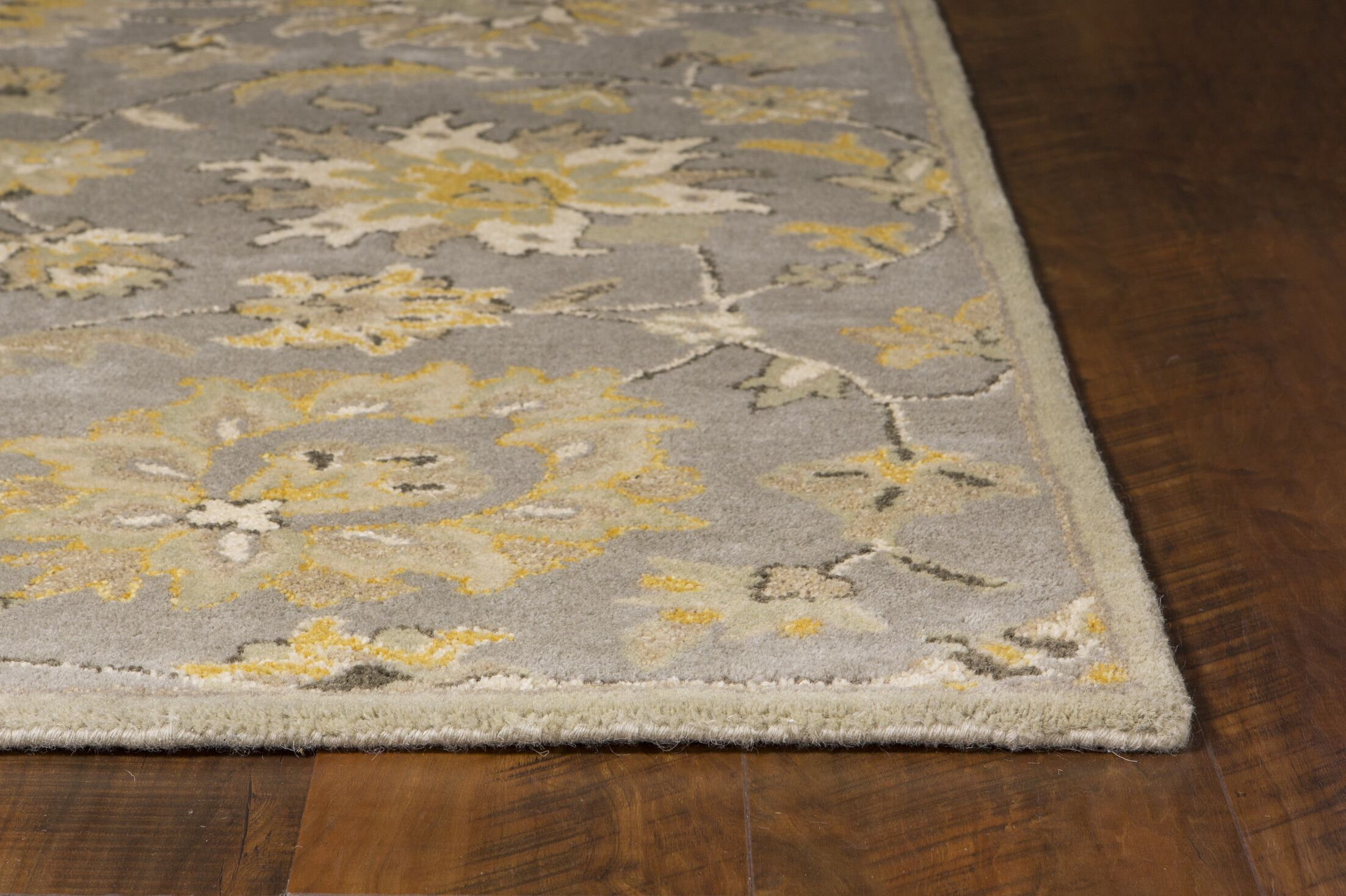 Glade Park-Gateway Hand-Tufted Gray/Yellow Area Rug Rug Size: Rectangle 7'9