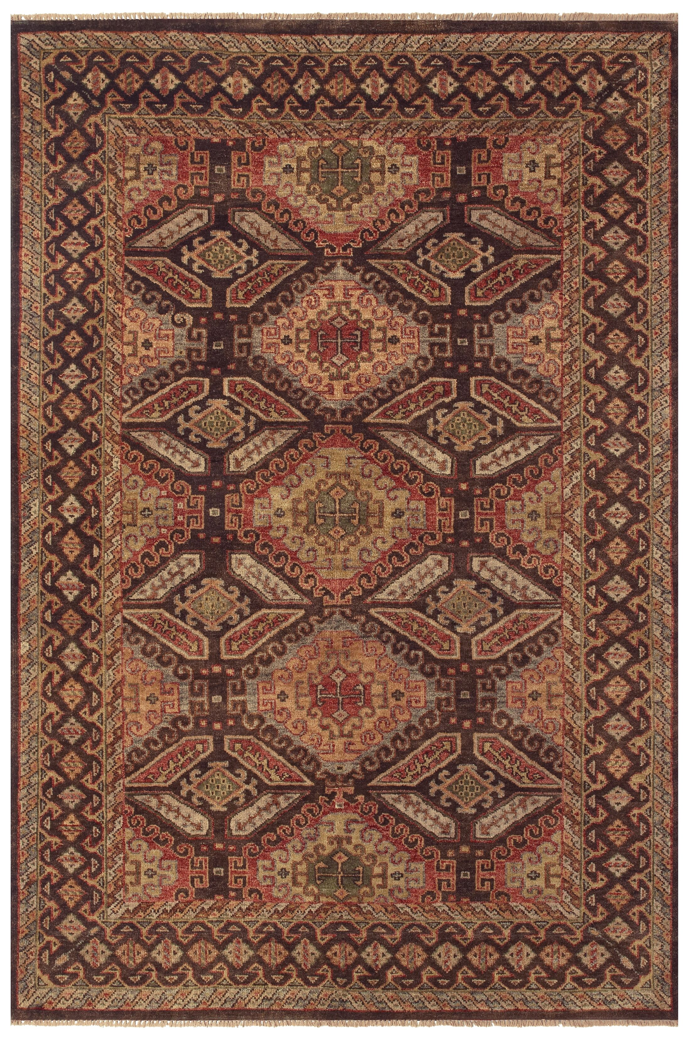 Keely Brown Area Rug Rug Size: Rectangle 2' x 3'
