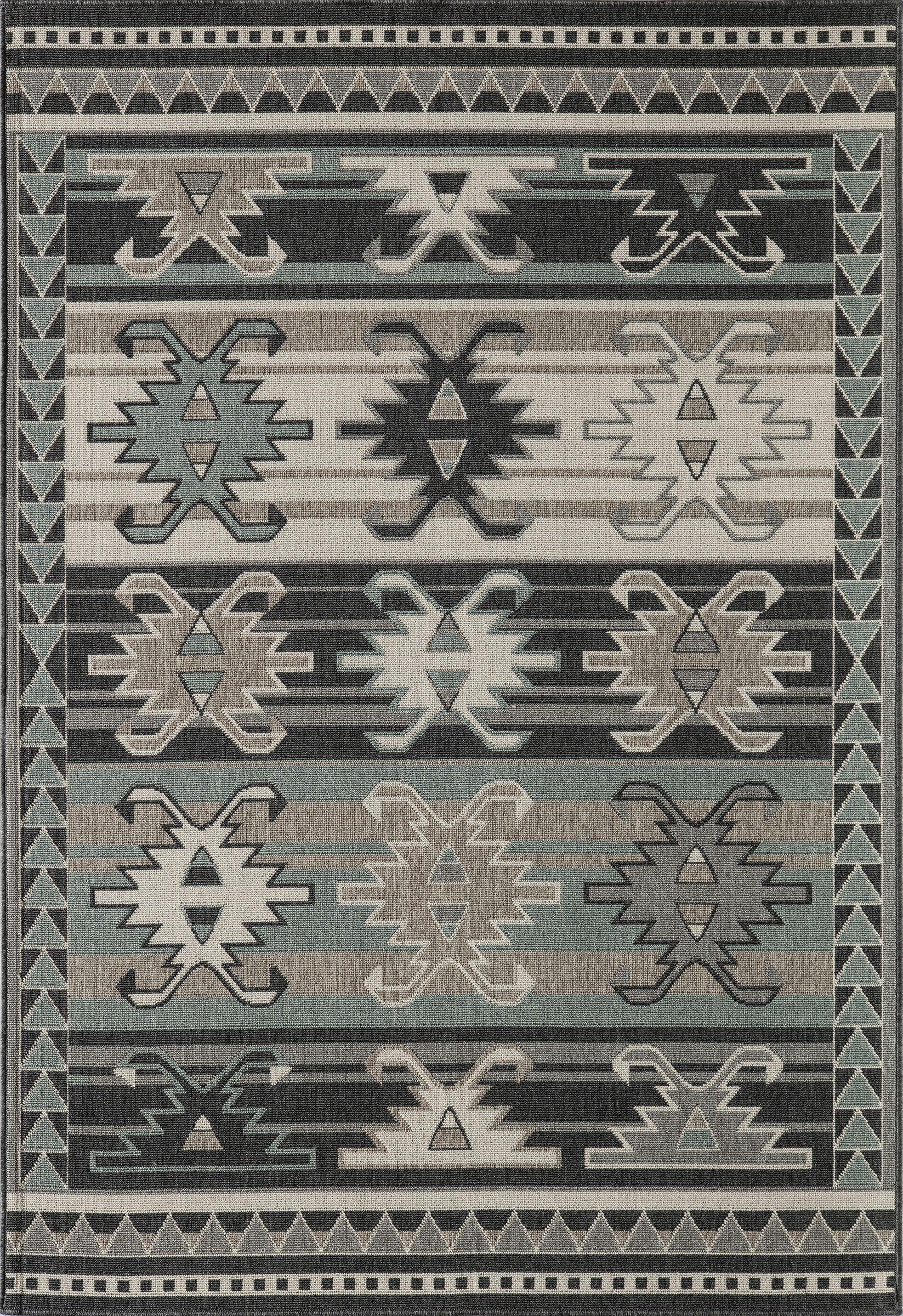 Axel Sage/Gray Indoor/Outdoor Area Rug Rug Size: Rectangle 3'11