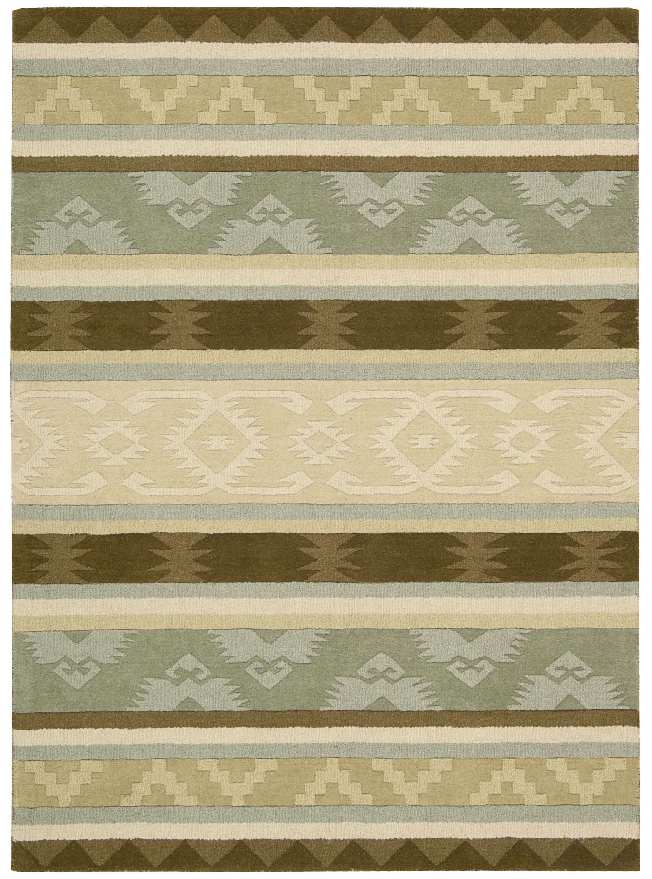 Atna Hand-Tufted Sage Area Rug Rug Size: Rectangle 8' x 10'6