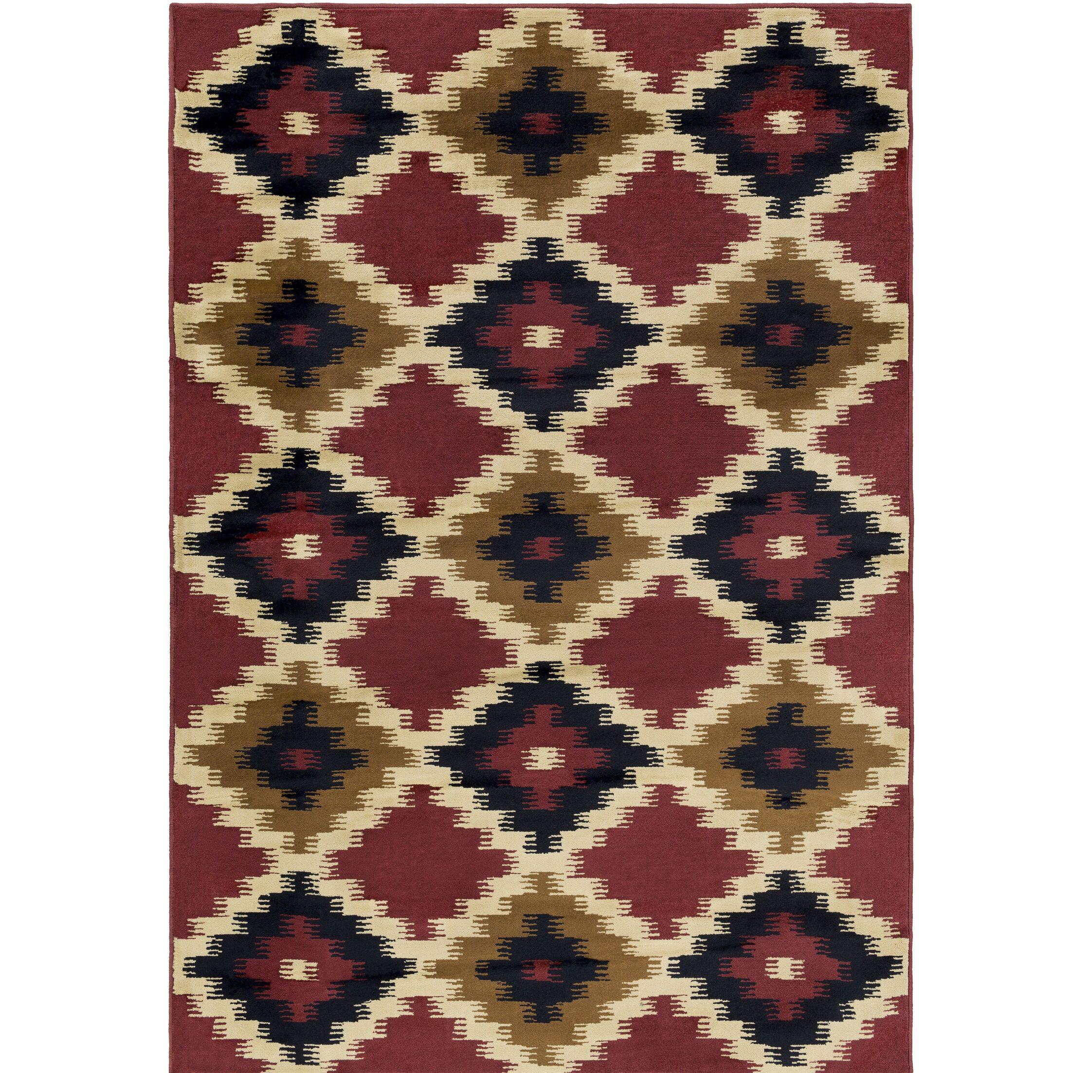 Amur Red/Beige Area Rug Rug Size: Rectangle 5'3