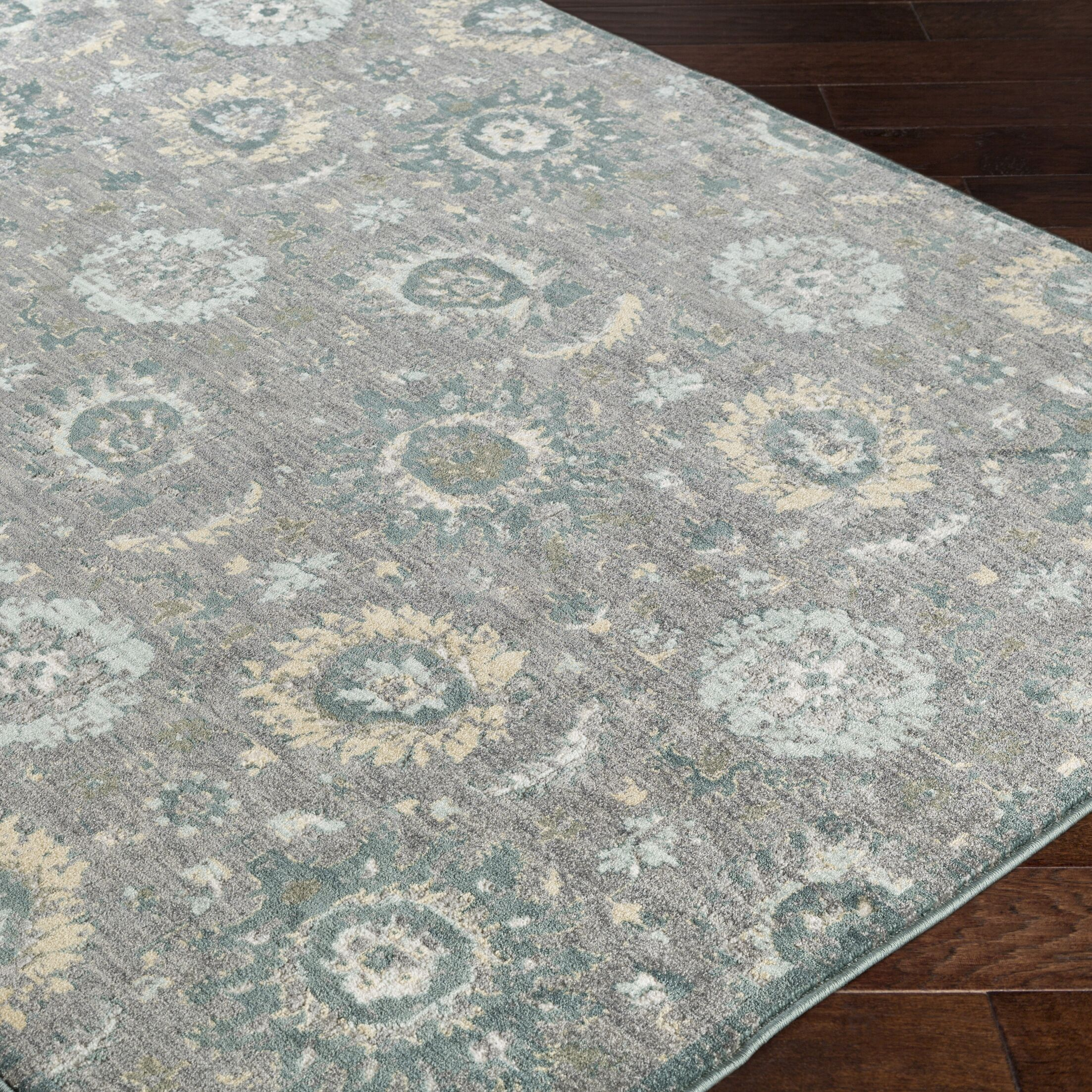 Grandview Brown/Charcoal Area Rug Rug Size: 5'3