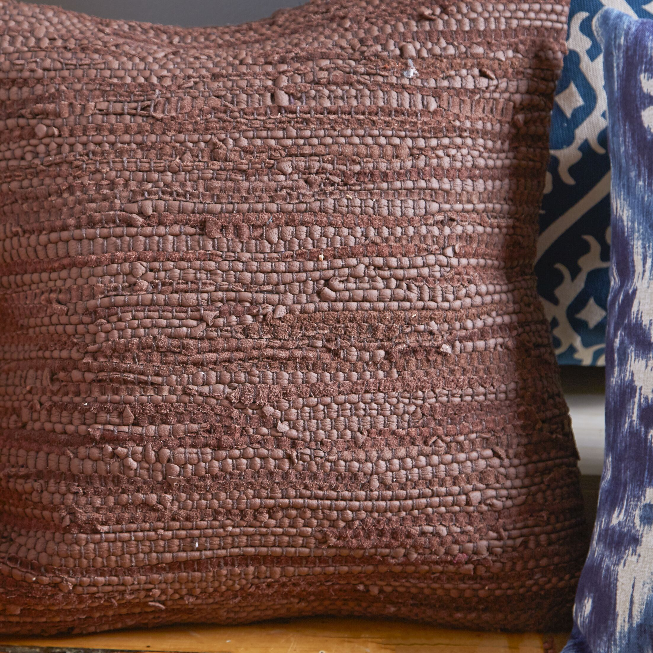 Walters Woven Throw Pillow Color: Purple