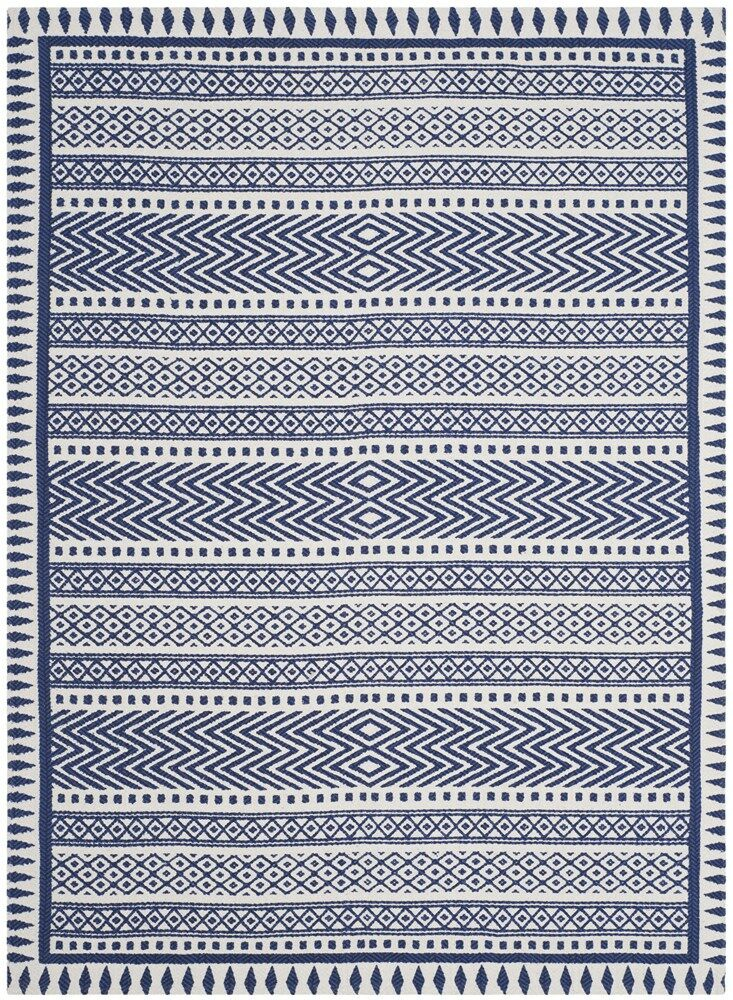 Ampezo Hand-Loomed Blue Area Rug Rug Size: Rectangle 3' x 5'