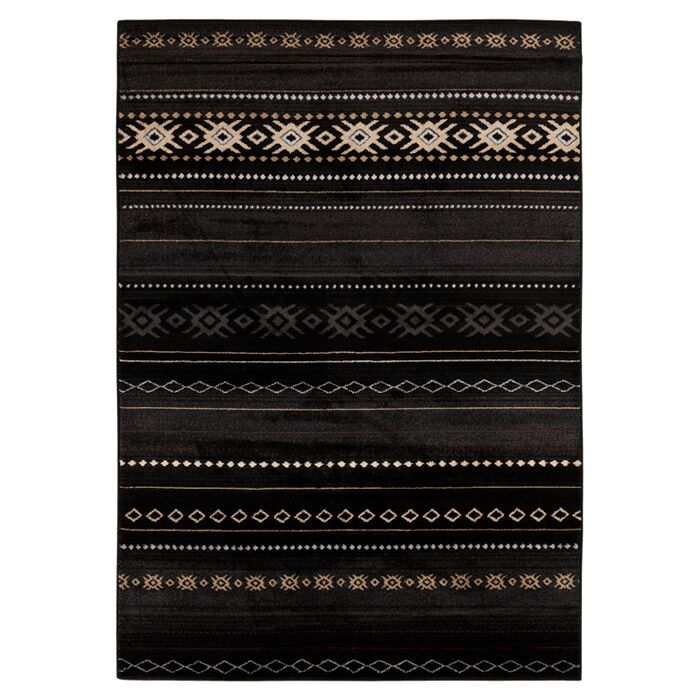 Haworth Black Area Rug Rug Size: Rectangle 5'3