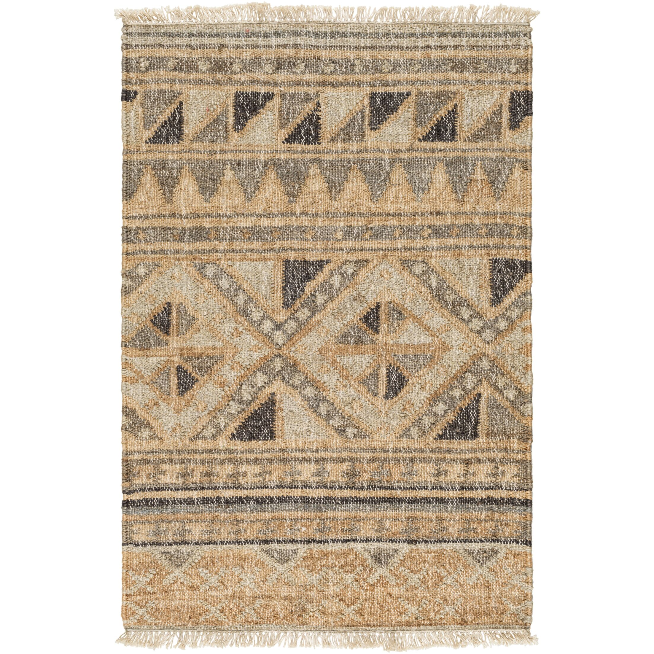 Essex Hand-Woven Brown Area Rug Rug Size: Rectangle 5' x 7'6