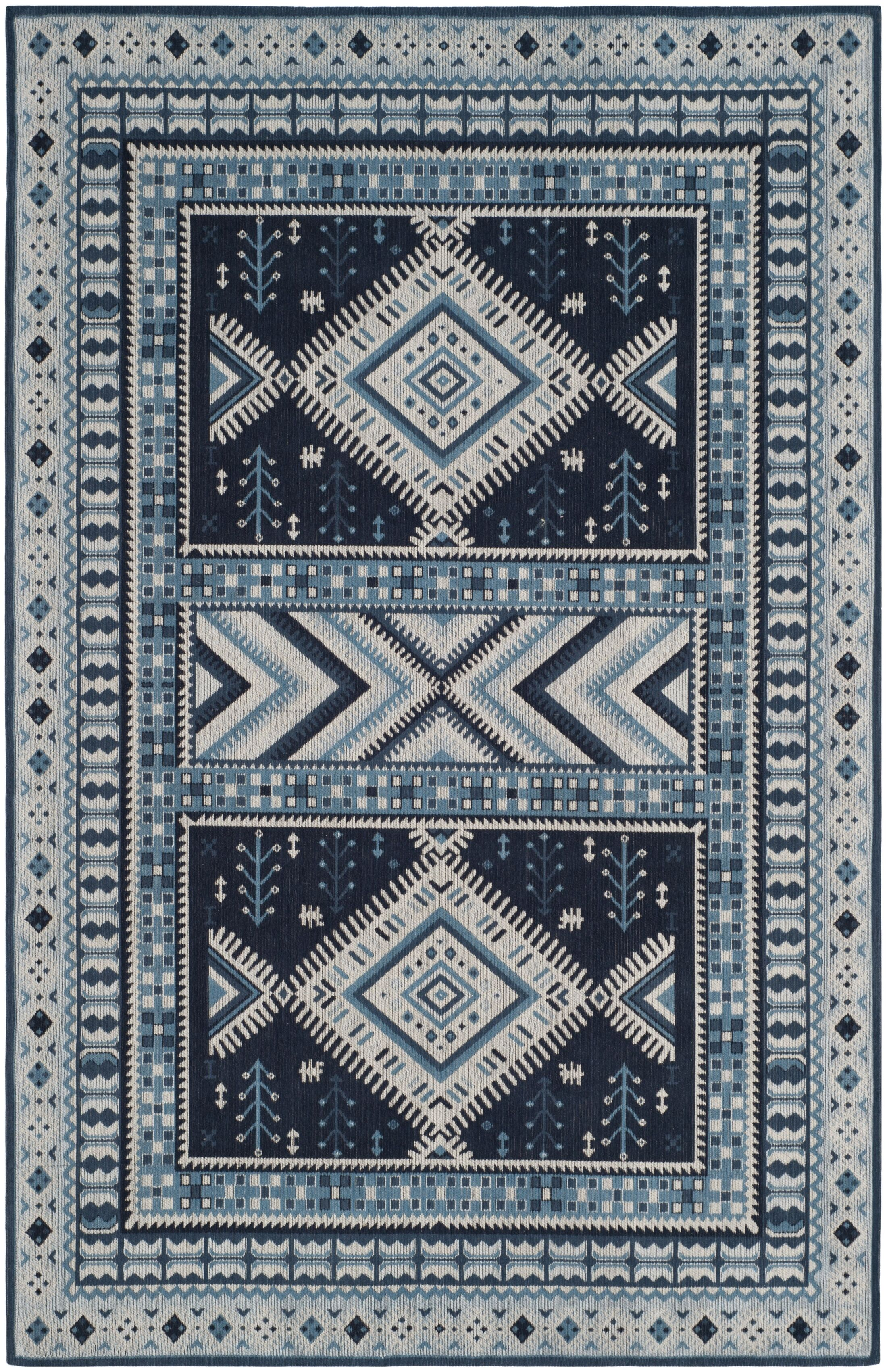 Antelope Blue Area Rug Rug Size: Rectangle 5' x 8'