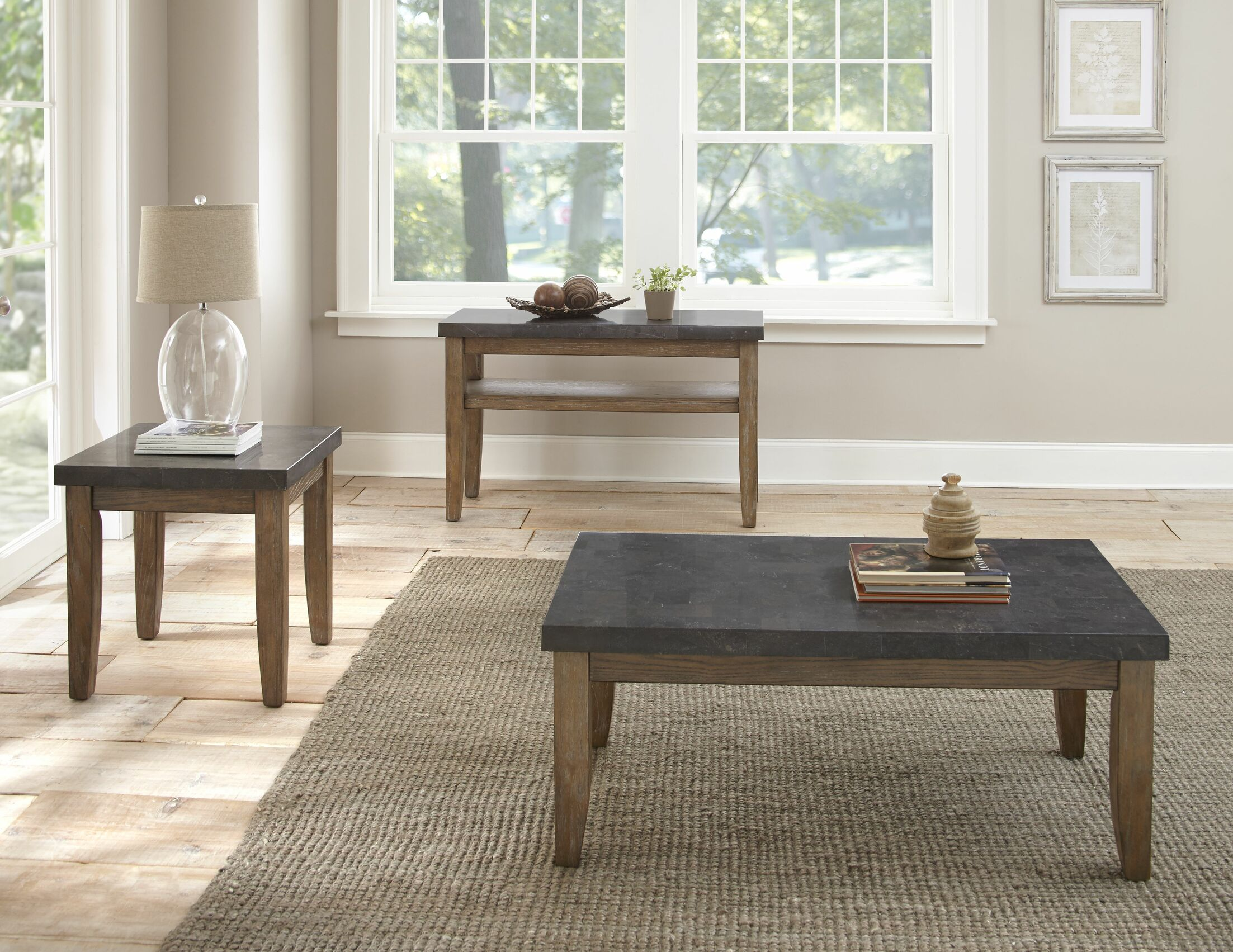 Dejardins 3 Piece Coffee Table Set
