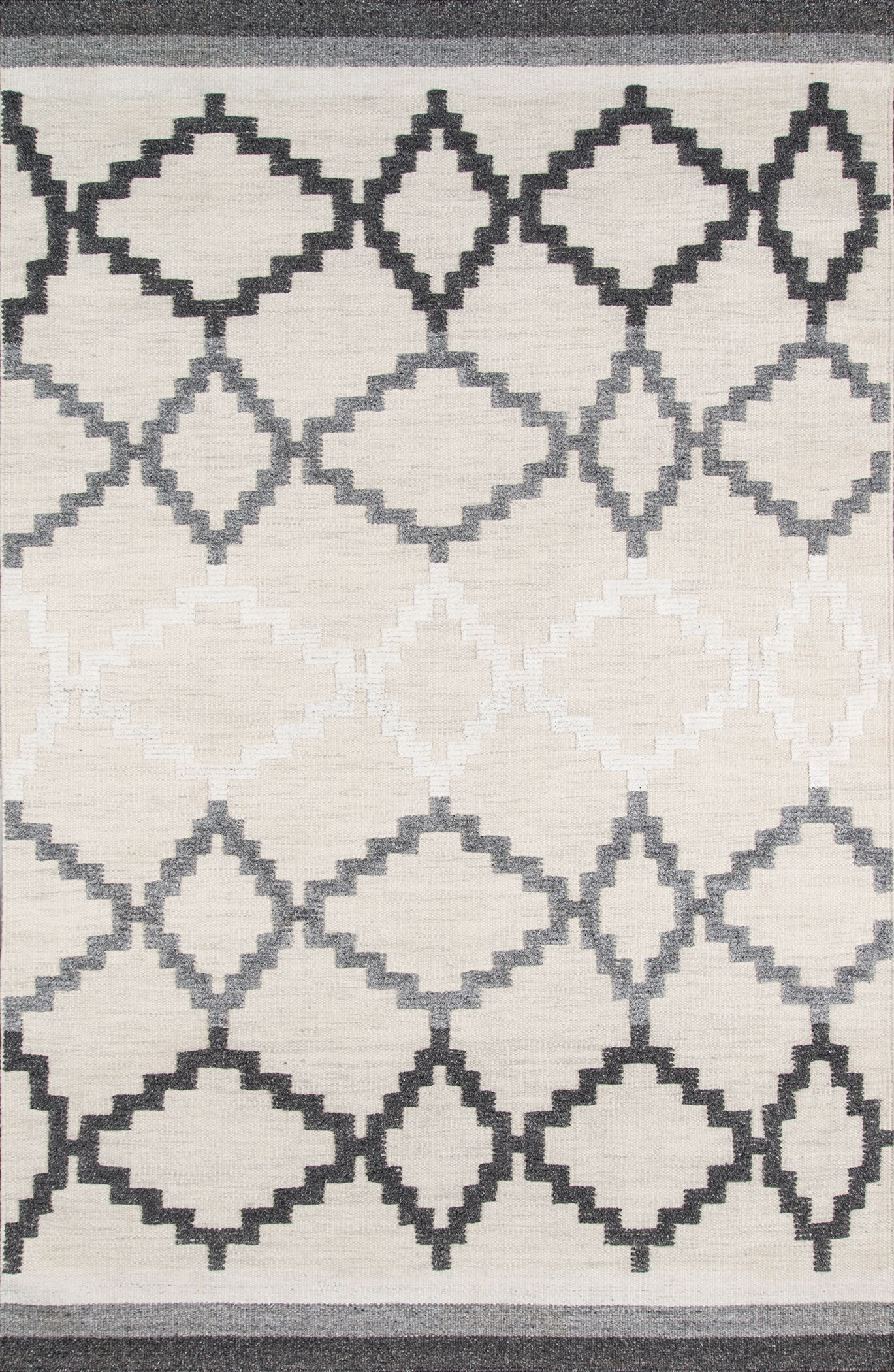 Middleborough Hand-Woven Gray Area Rug Rug Size: Rectangle 3'6