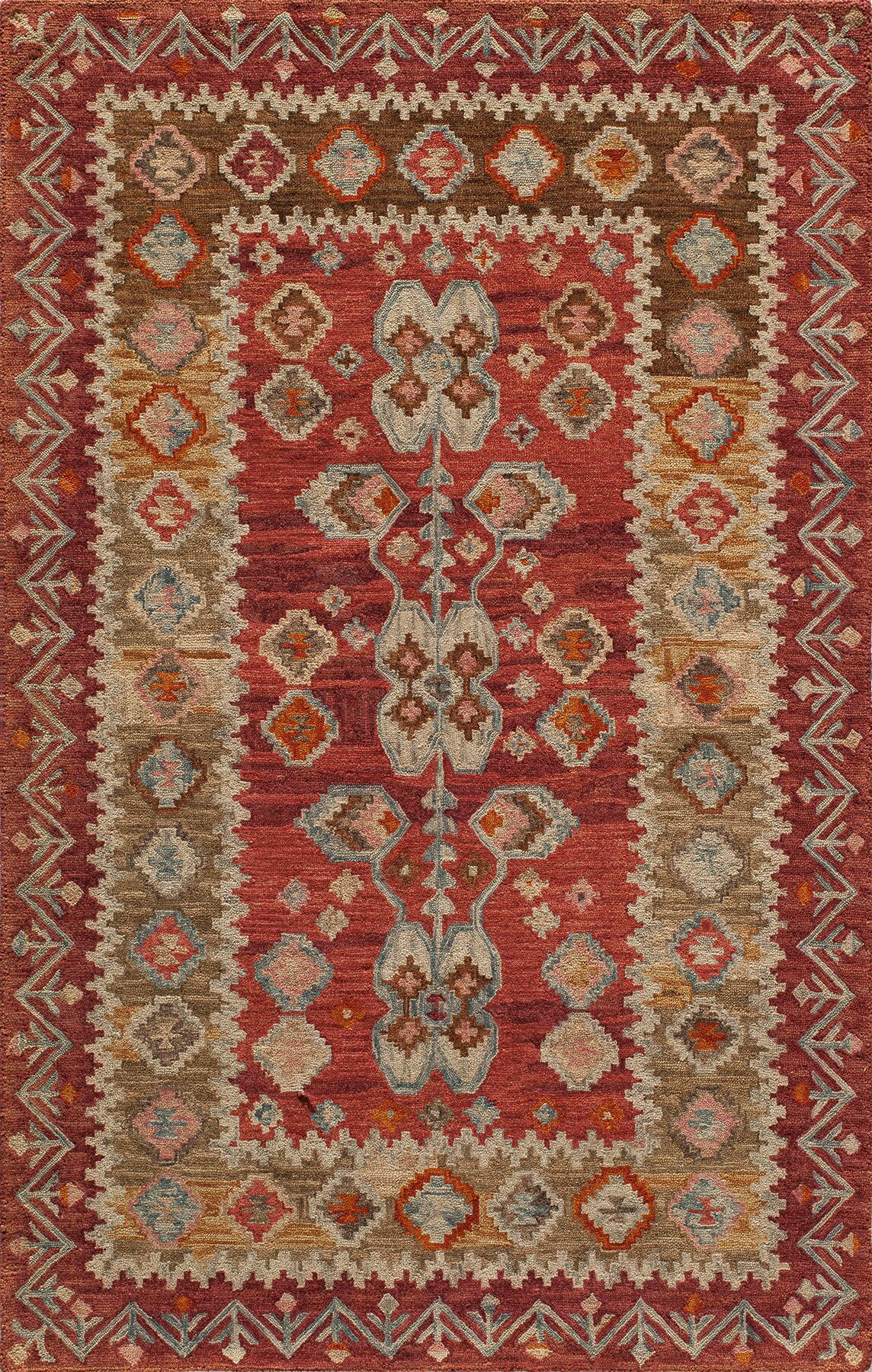 Laughlin Red Rug Rug Size: Rectangle 8' x 11'