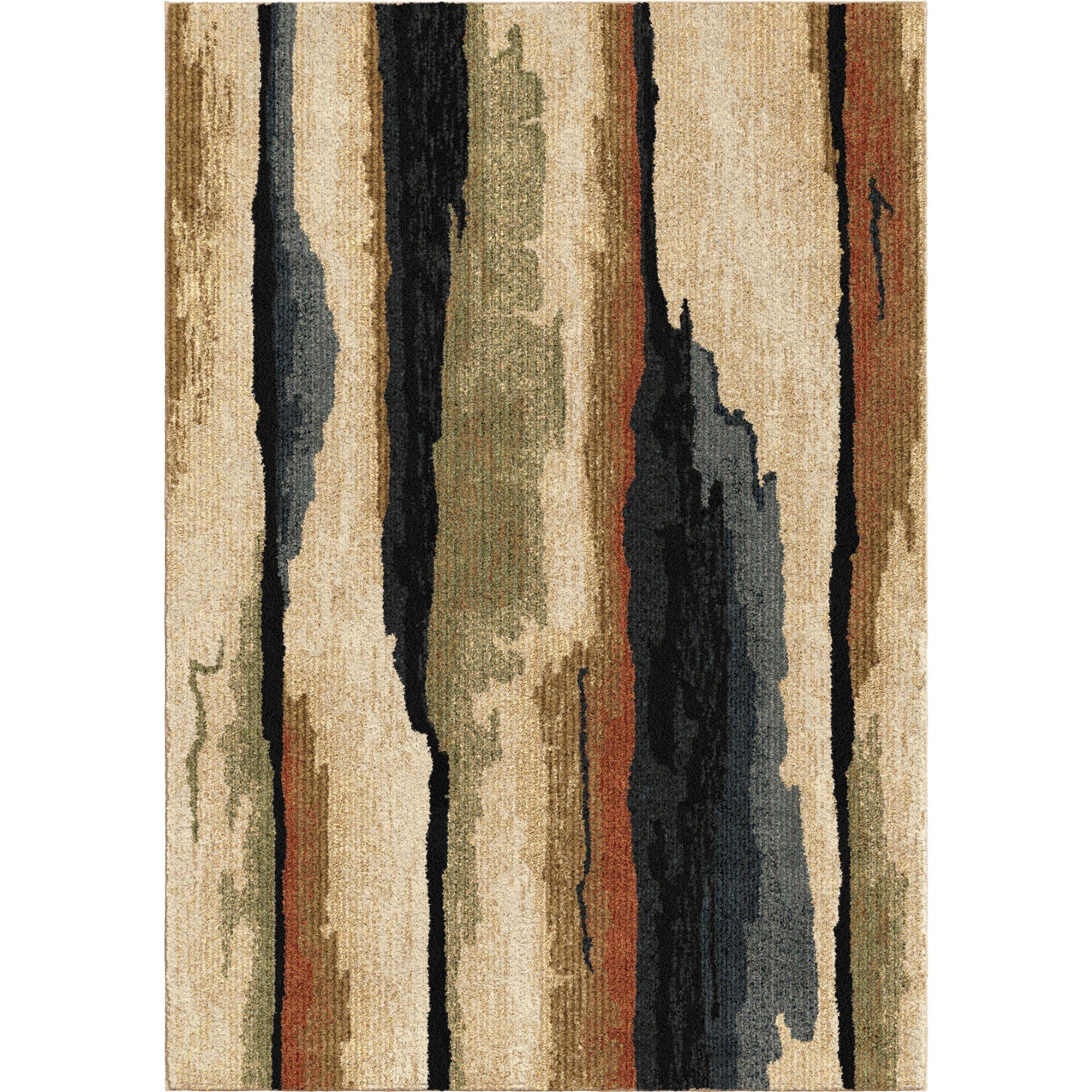 Makushin Beige/Blue/Green Area Rug Rug Size: 5'3
