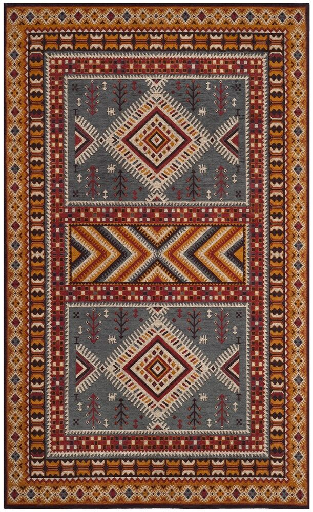 Herblain Red/Yellow Area Rug Rug Size: Rectangle 5' x 8'