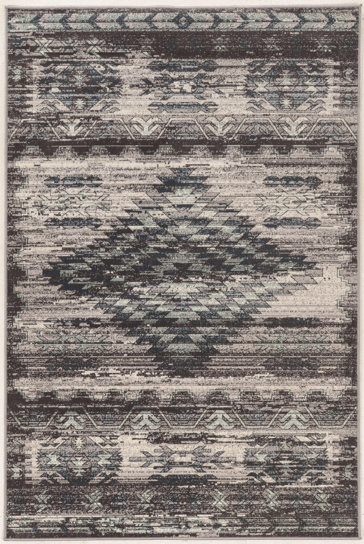 Miche Wabun Black/Beige Area Rug Rug Size: Rectangle 8' x 10'
