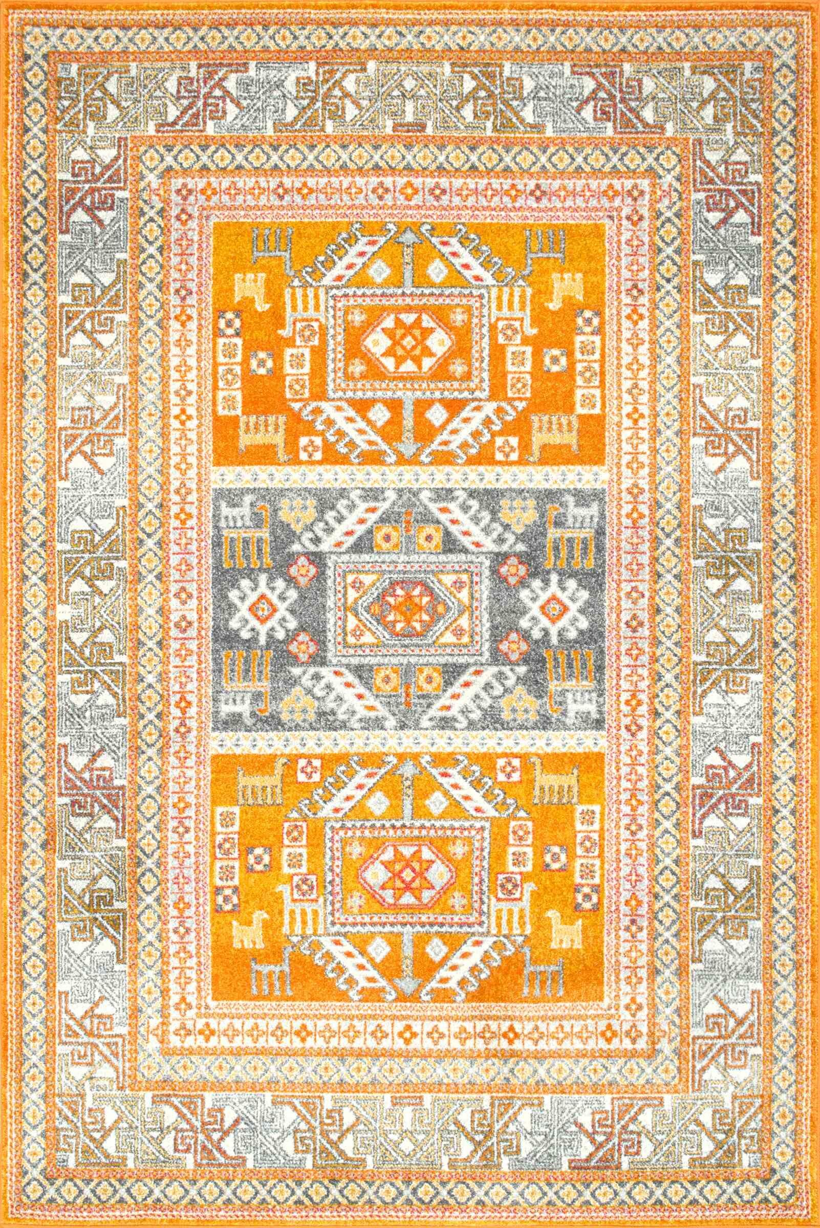 Hidalgo Yellow Area Rug Rug Size: Rectangle 5' x 7'5