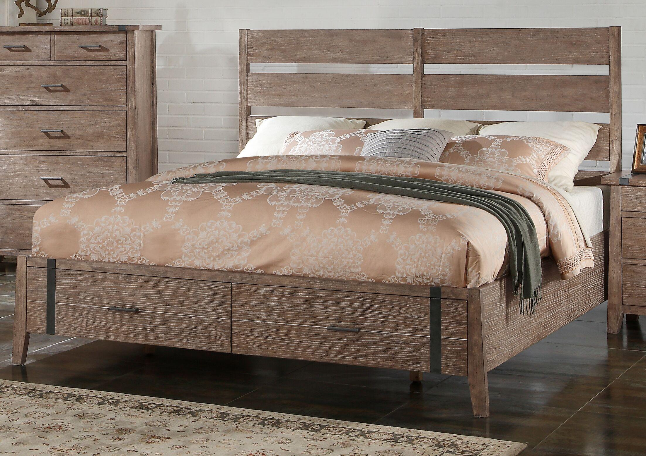 Crane Storage Panel Bed Size: King
