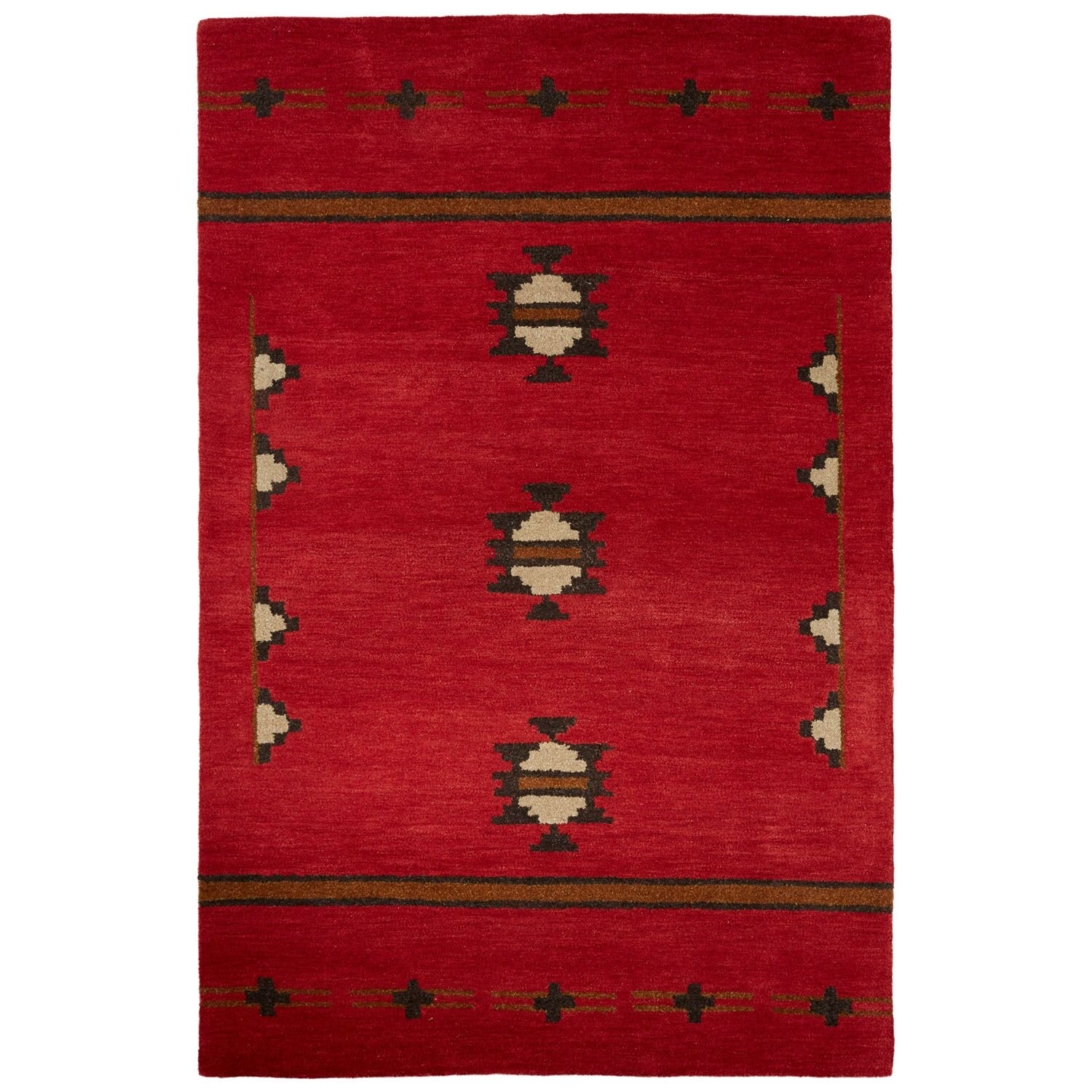 Zachary Hand-Woven Wool Red Area Rug Rug Size: Rectangle 8' x 10'