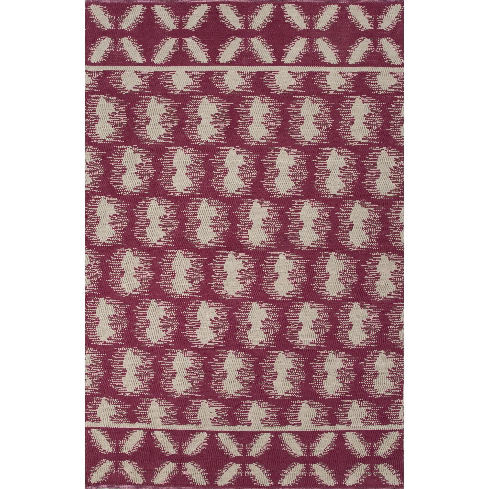 Camarillo Cotton Flat Weave Cotton Cordovan/Ivory Area Rug Rug Size: 5' x 8'