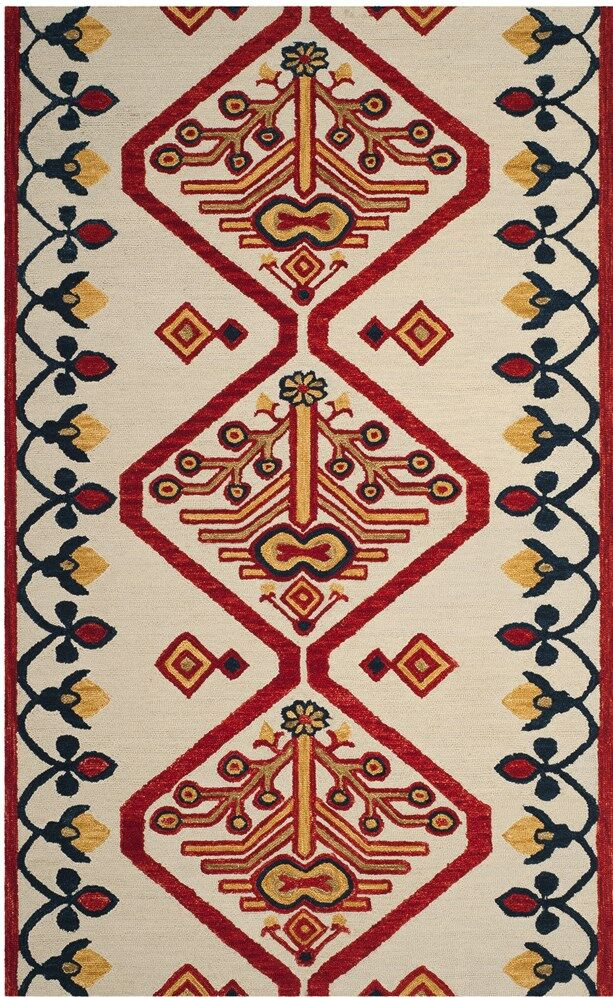 Aldwich Hand-Tufted Multi-Color Area Rug Rug Size: Rectangle 5' x 8'
