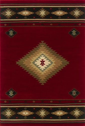 Johnson Village Red/Green Area Rug Rug Size: Rectangle 6'7