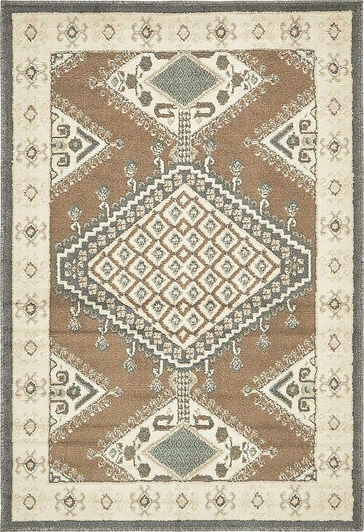 Giovanni Brown Area Rug Rug Size: Rectangle 9' x 12'
