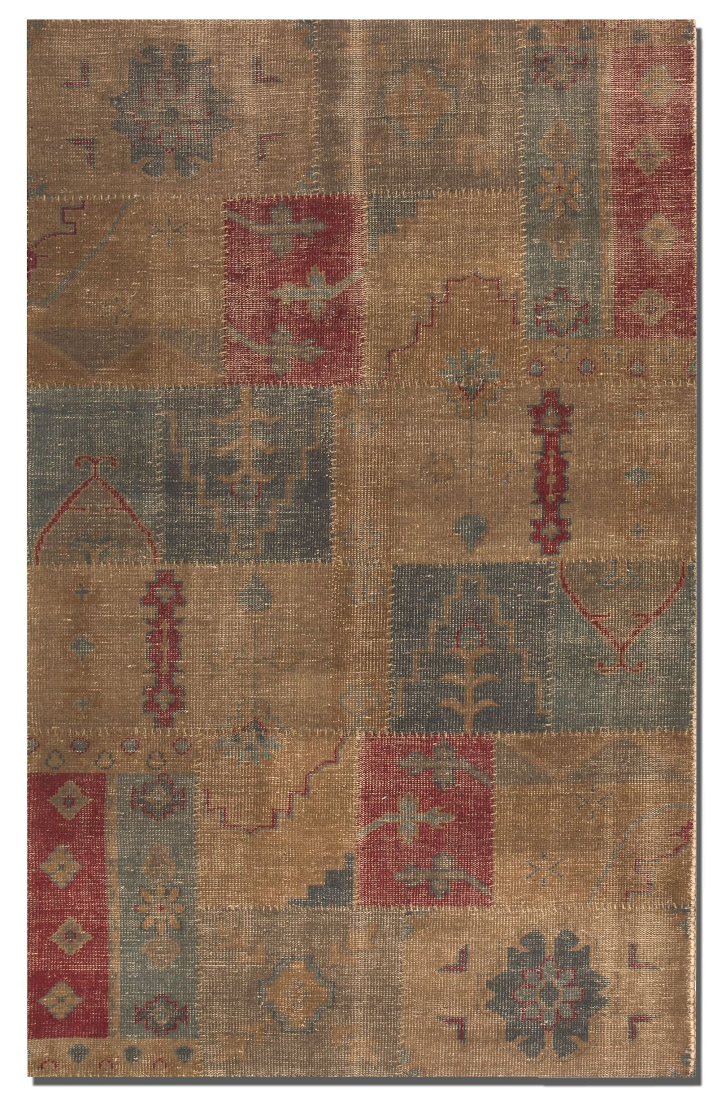 Grayson Hand-Knotted Wool Brown Rug Rug Size: Rectangle 9' x 12'