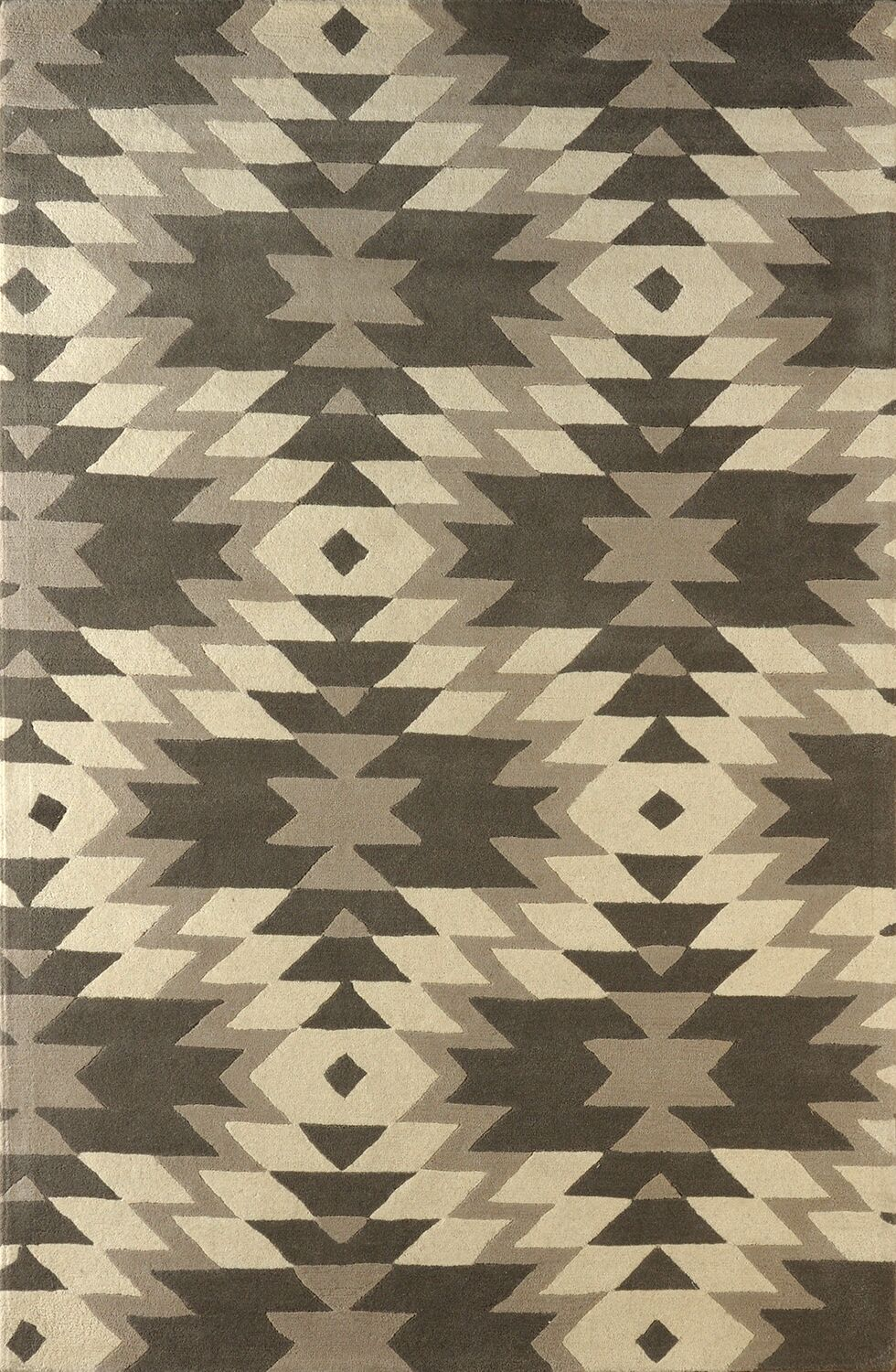 Alverstone Hand-Tufted Steel Area Rug Rug Size: Rectangle 8' x 10'