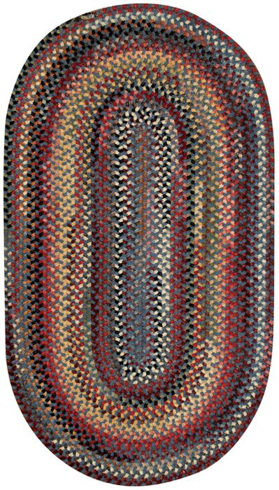 Kaweah Blue Area Rug Rug Size: Concentric 7' x 9'