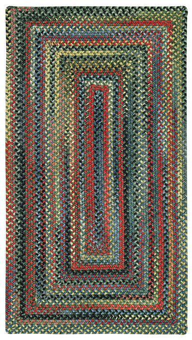 Sahale Green Striped Area Rug Rug Size: Concentric 2' x 3'