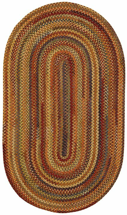 Kaweah Hand-Braided Wool Brown Area Rug Rug Size: Concentric Square 5'6