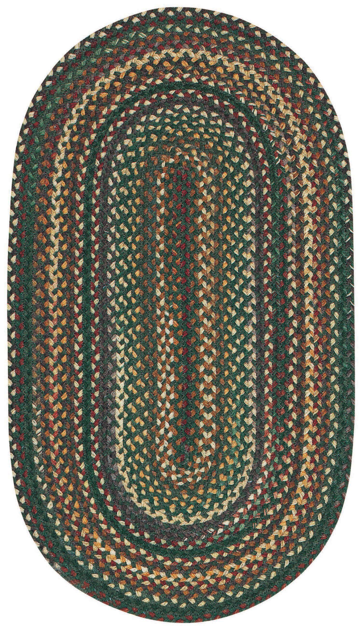 Kenji Dark Geen Area Rug Rug Size: Oval 1'8