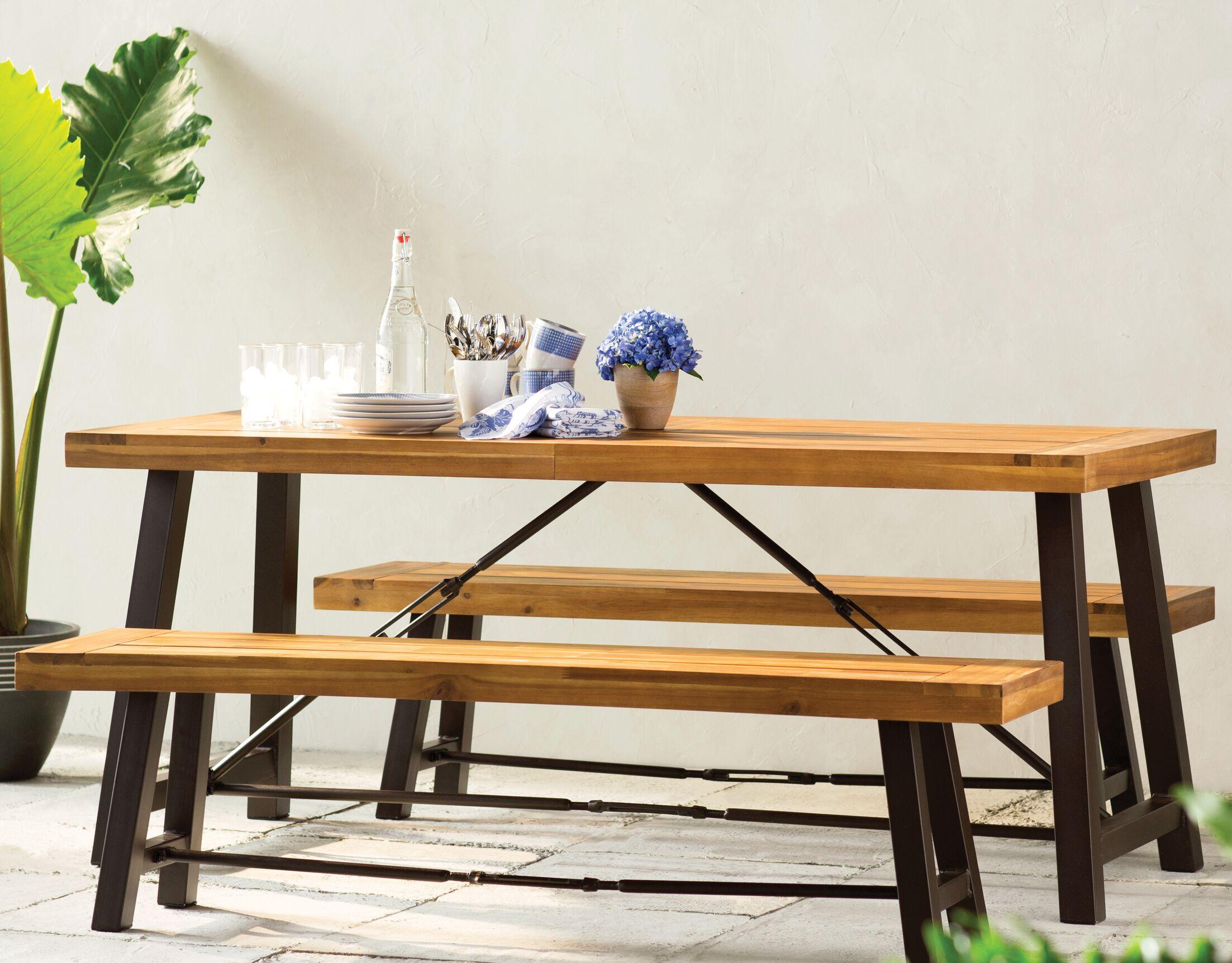 Benigna 3 Piece Wood Picnic Table